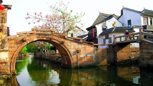 Day time view of the Zhouzhuang Water Village