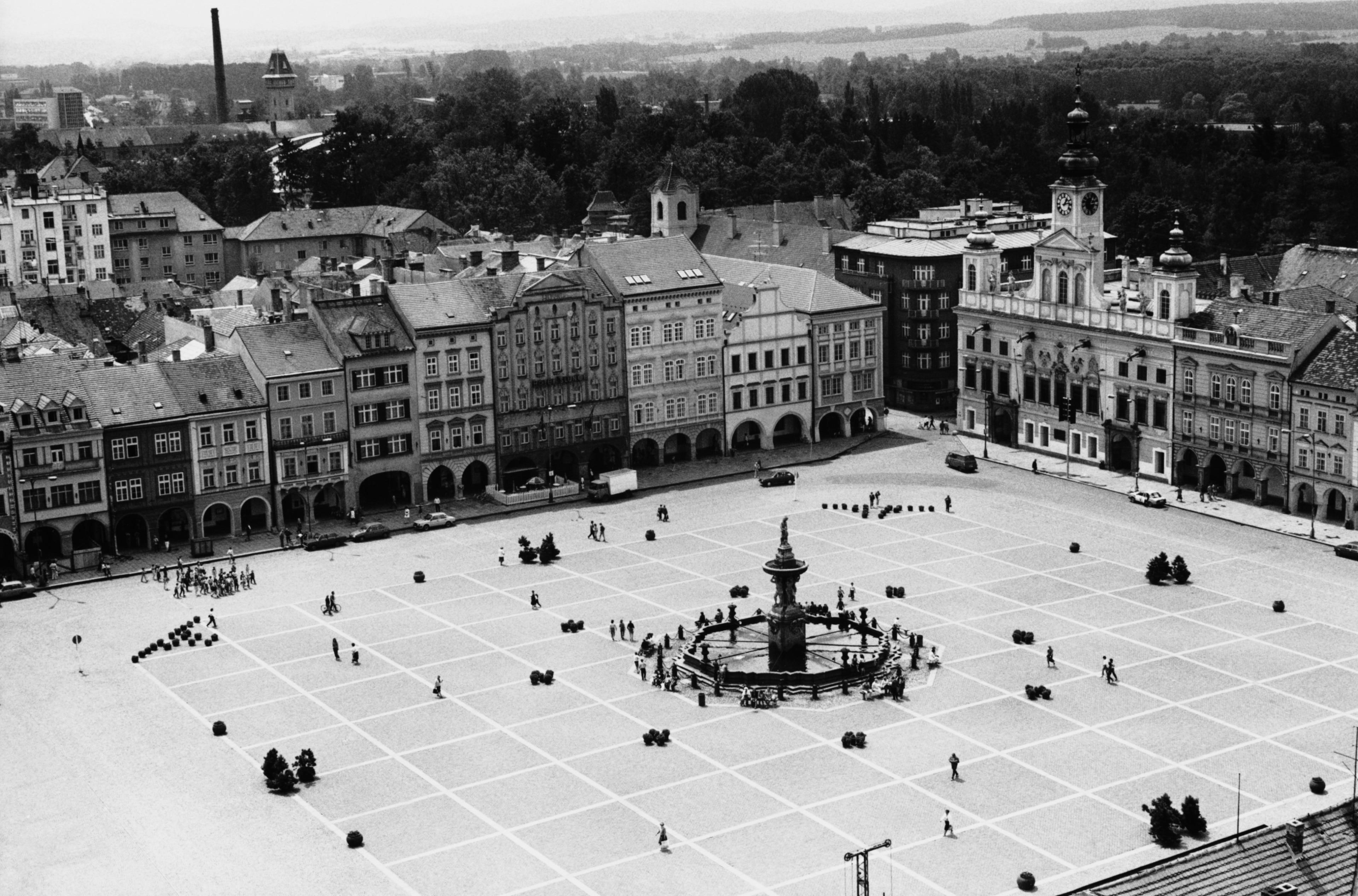 Piarist Square, Ceske Budejovice, South Bohemia Region, Czech Republic