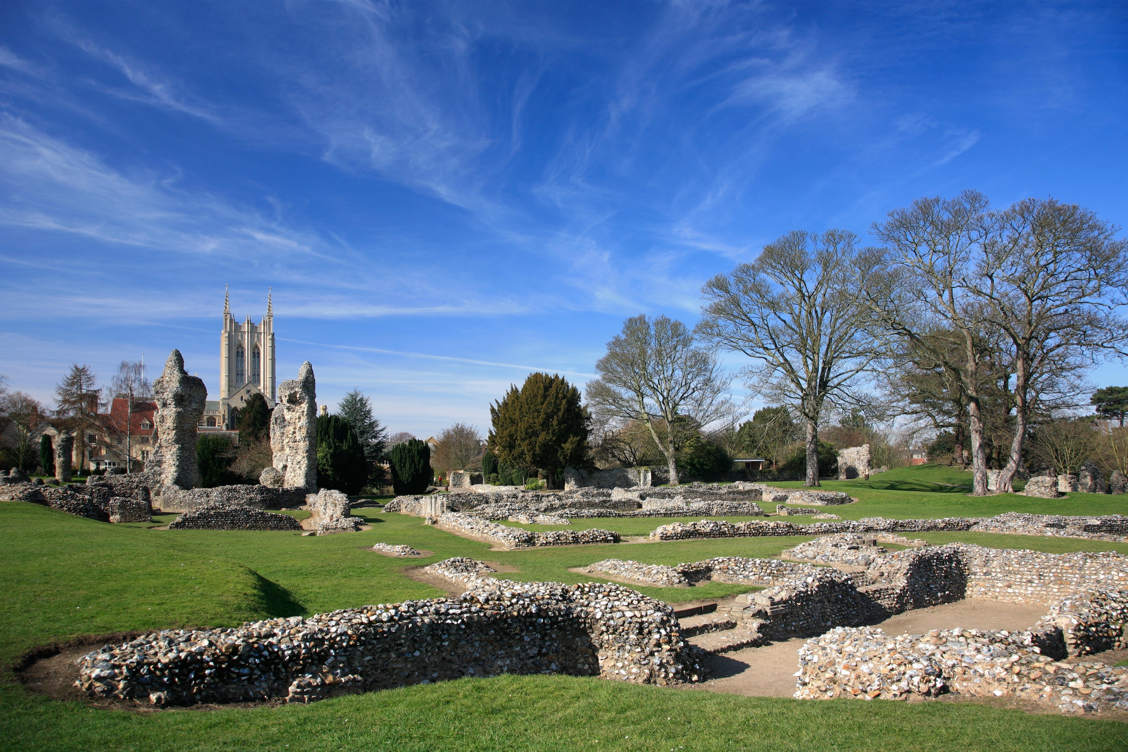 Bury St Edmunds Abbey, Bury St Edmunds, England, United Kingdom