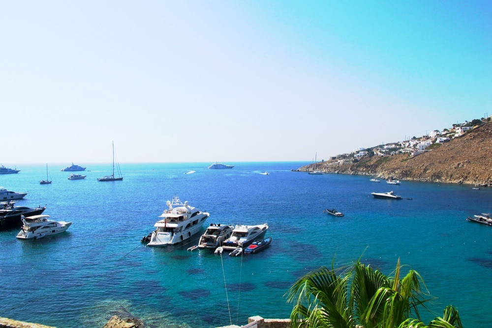 Psarou, Mykonos, South Aegean, Greece