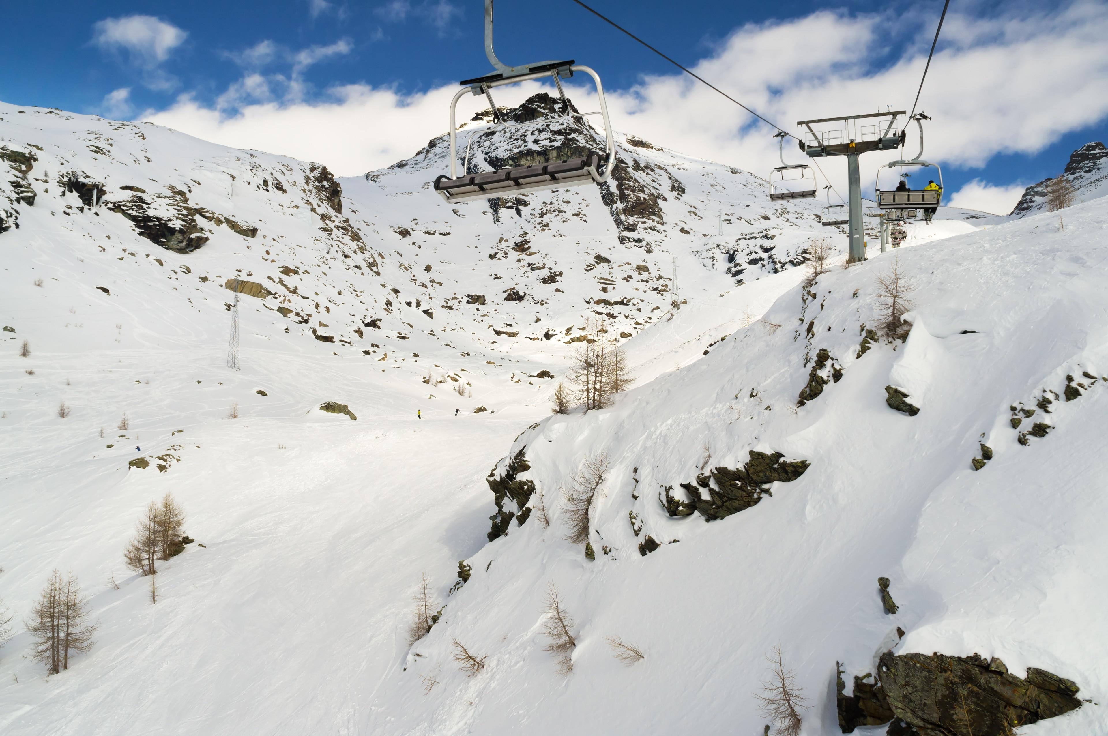 Monterosa Ski, Gressoney-la-Trinite, Ayas, Valle d'Aosta, Italië