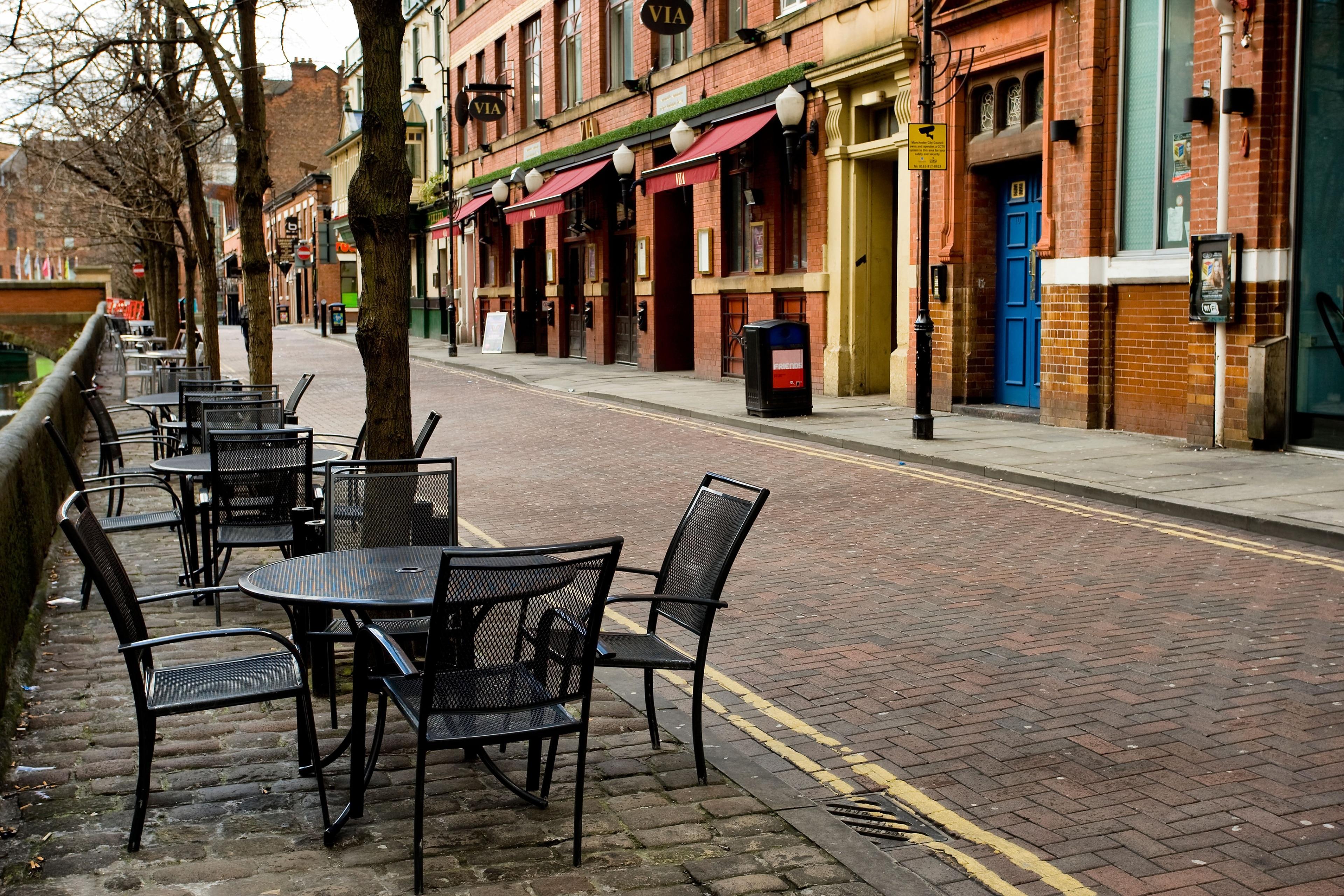 Canal Street, Manchester, England, Großbritannien