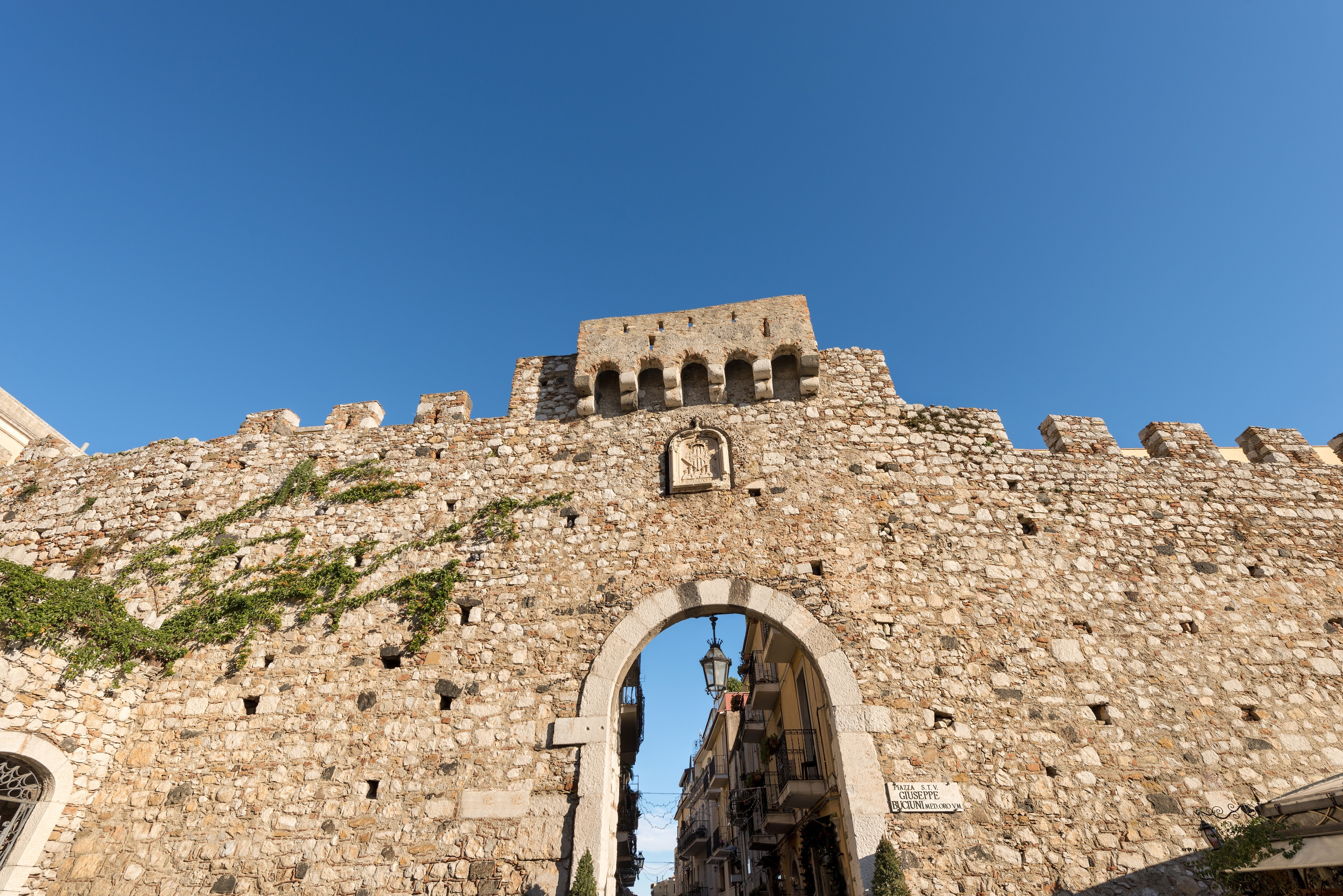 Porta di Catania, Taormina, Sizilien, Italien