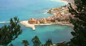 Plaża w Castellammare del Golfo