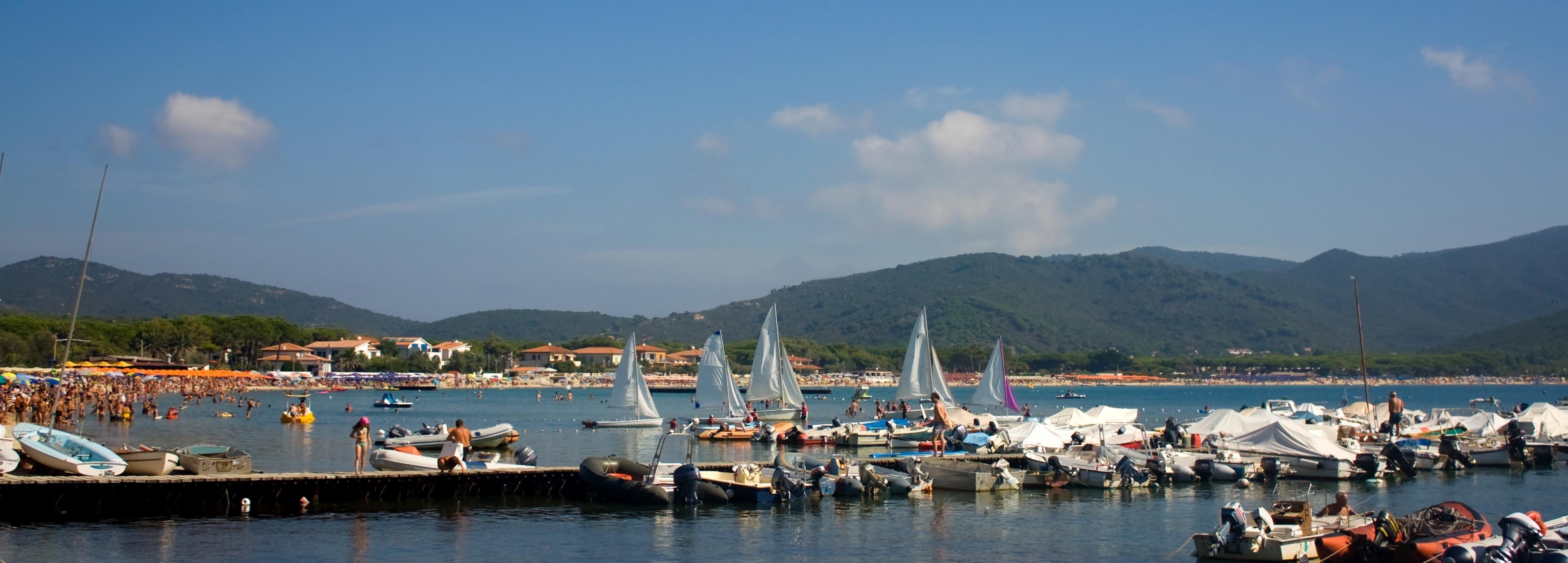 Strand von Marina di Campo, Campo nell'Elba, Toskana, Italien