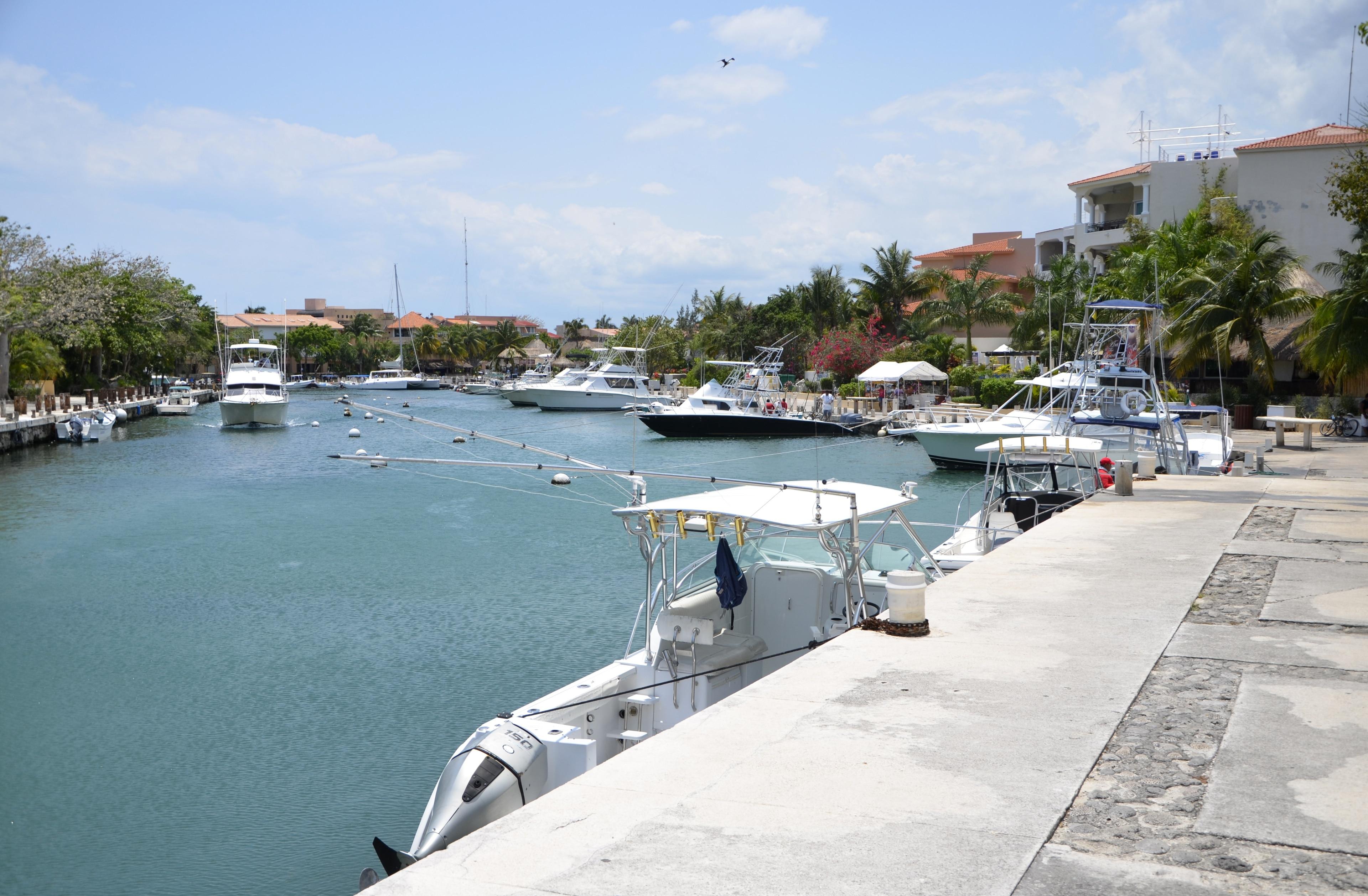 Port de plaisance de Puerto Aventuras, Puerto Aventuras, Quintana Roo, Mexique