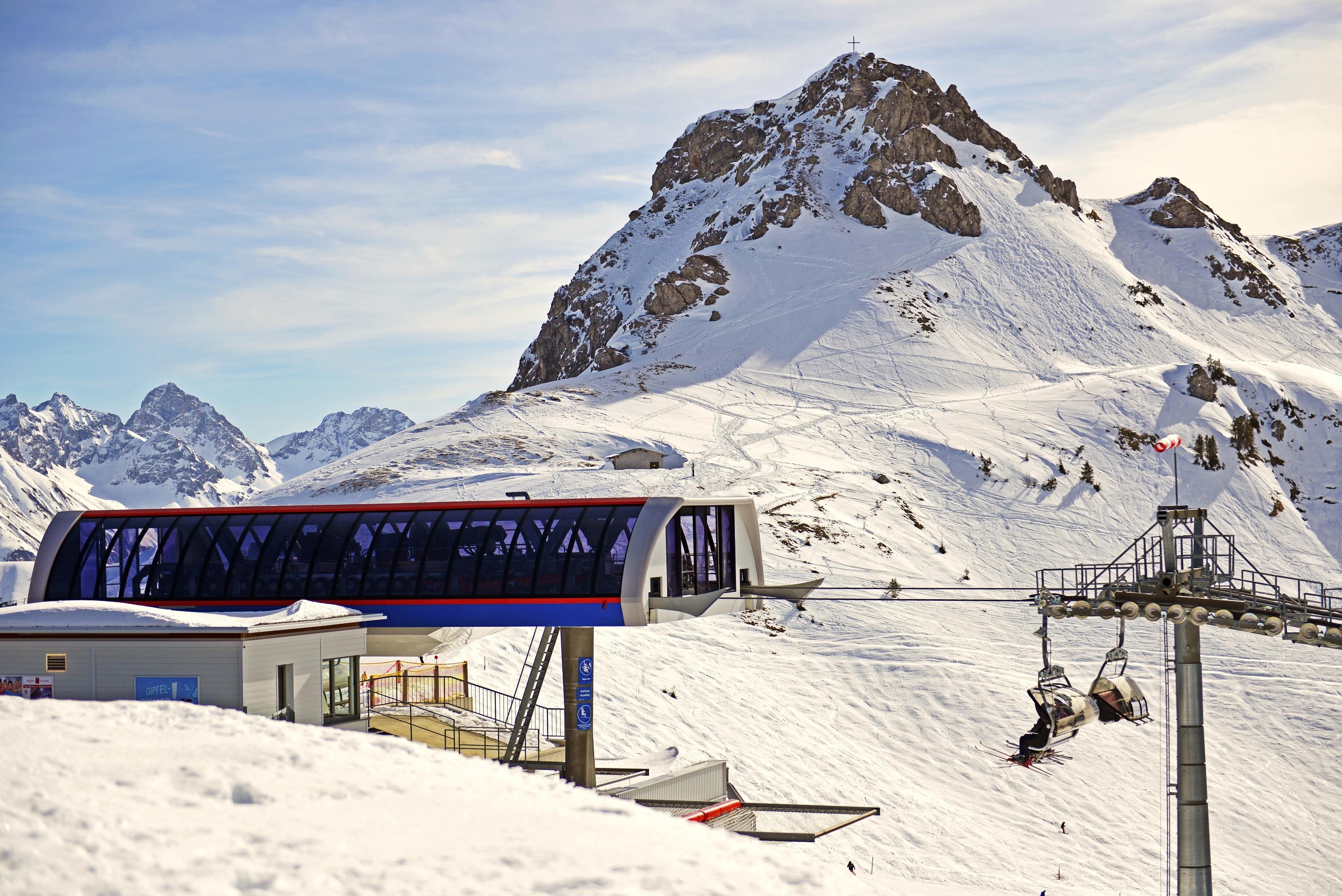 Fellhornbahn skidliftI, Oberstdorf, Bayern, Tyskland