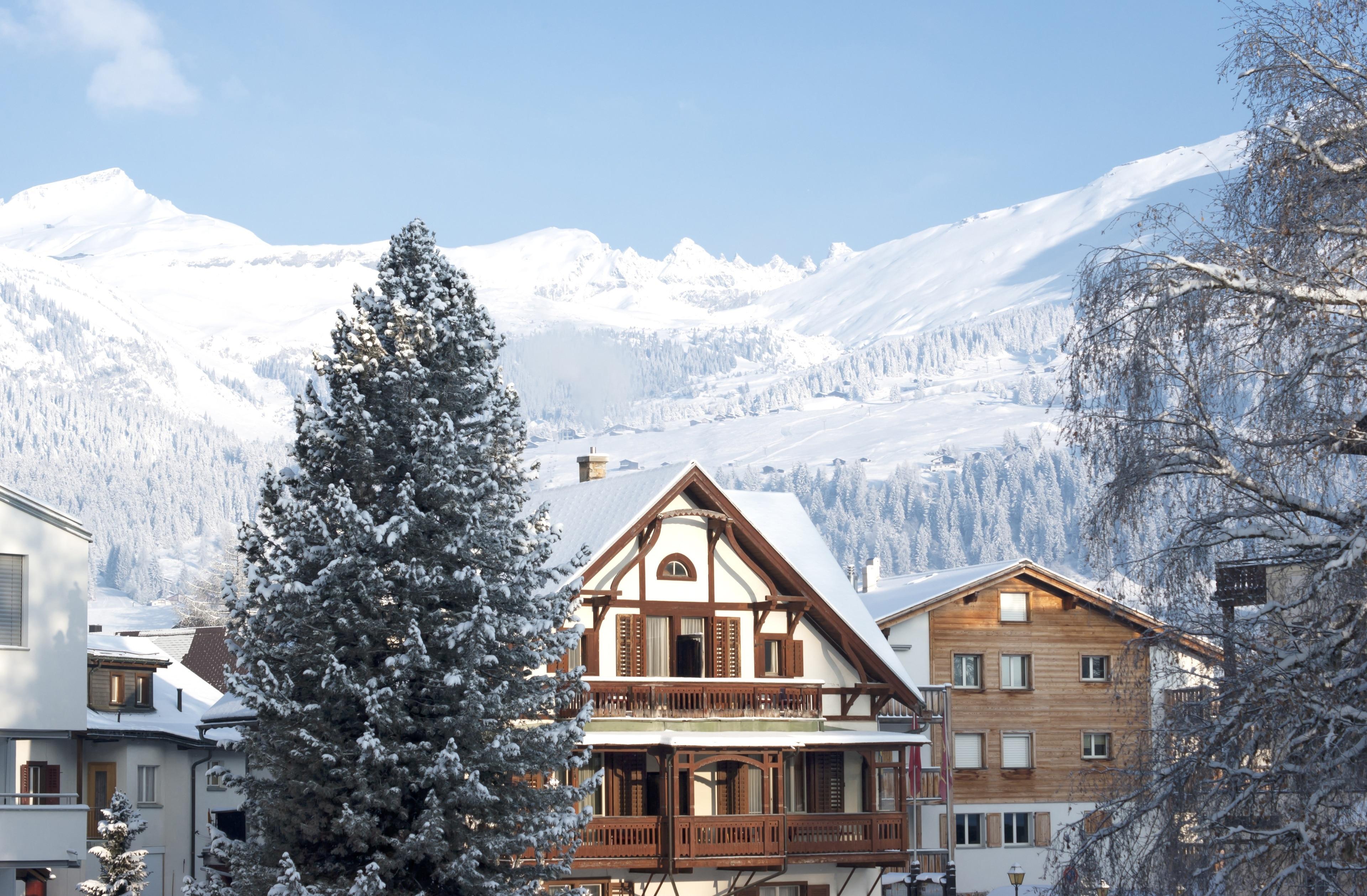 Wintersportort Flims, Flims, Graubünden, Schweiz