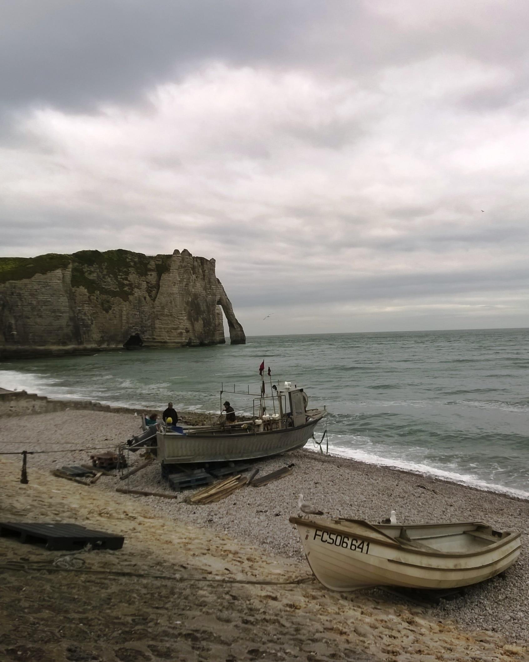 Strand von Étretat, Frankreich
