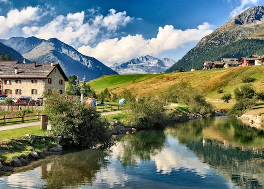 Centrum mesta Livigno, Comunità Montana Alta Valtellina, Taliansko