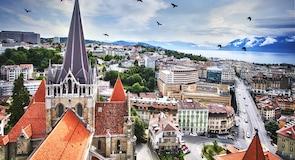 Centrum města Lausanne