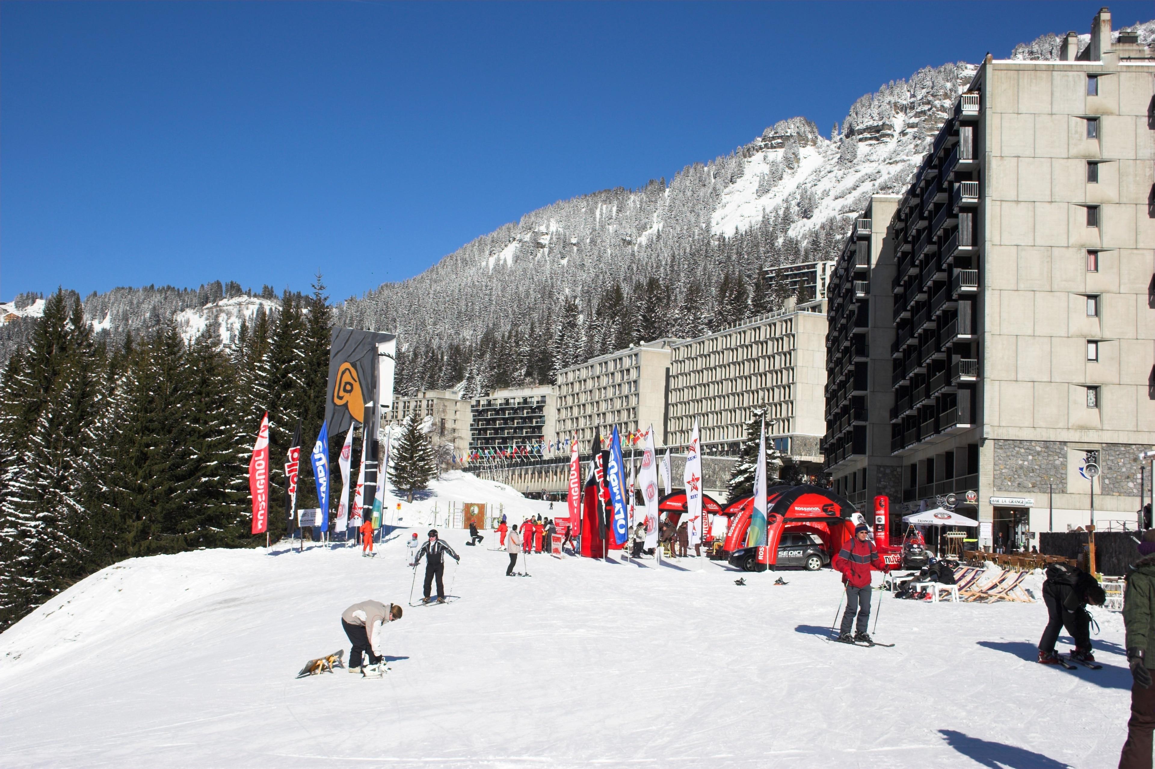 Wintersportort Morillon, Morillon, Haute-Savoie (Département), Frankreich