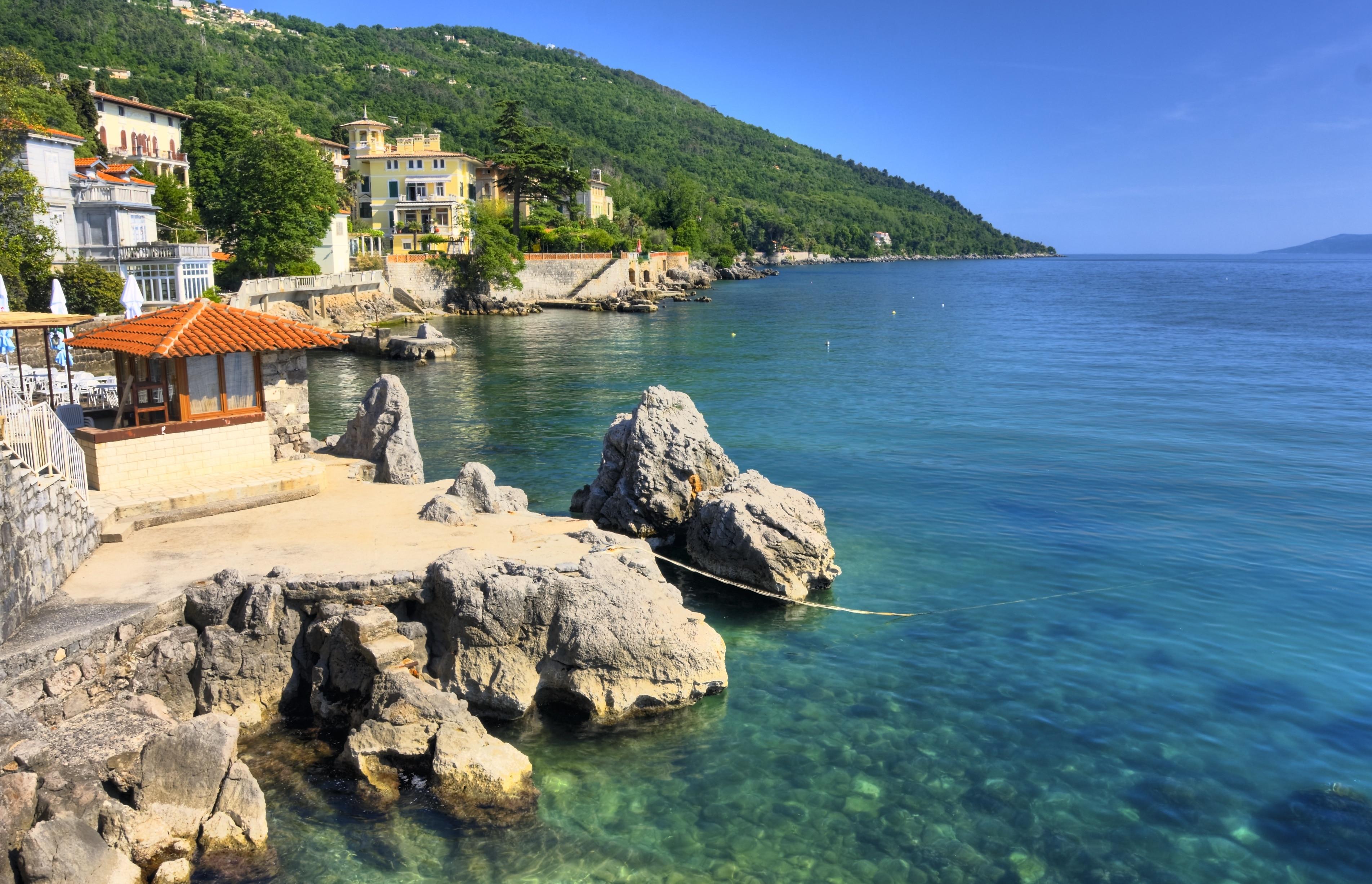 Lovran Harbour, Lovran, Primorje-Gorski Kotar, Croatia