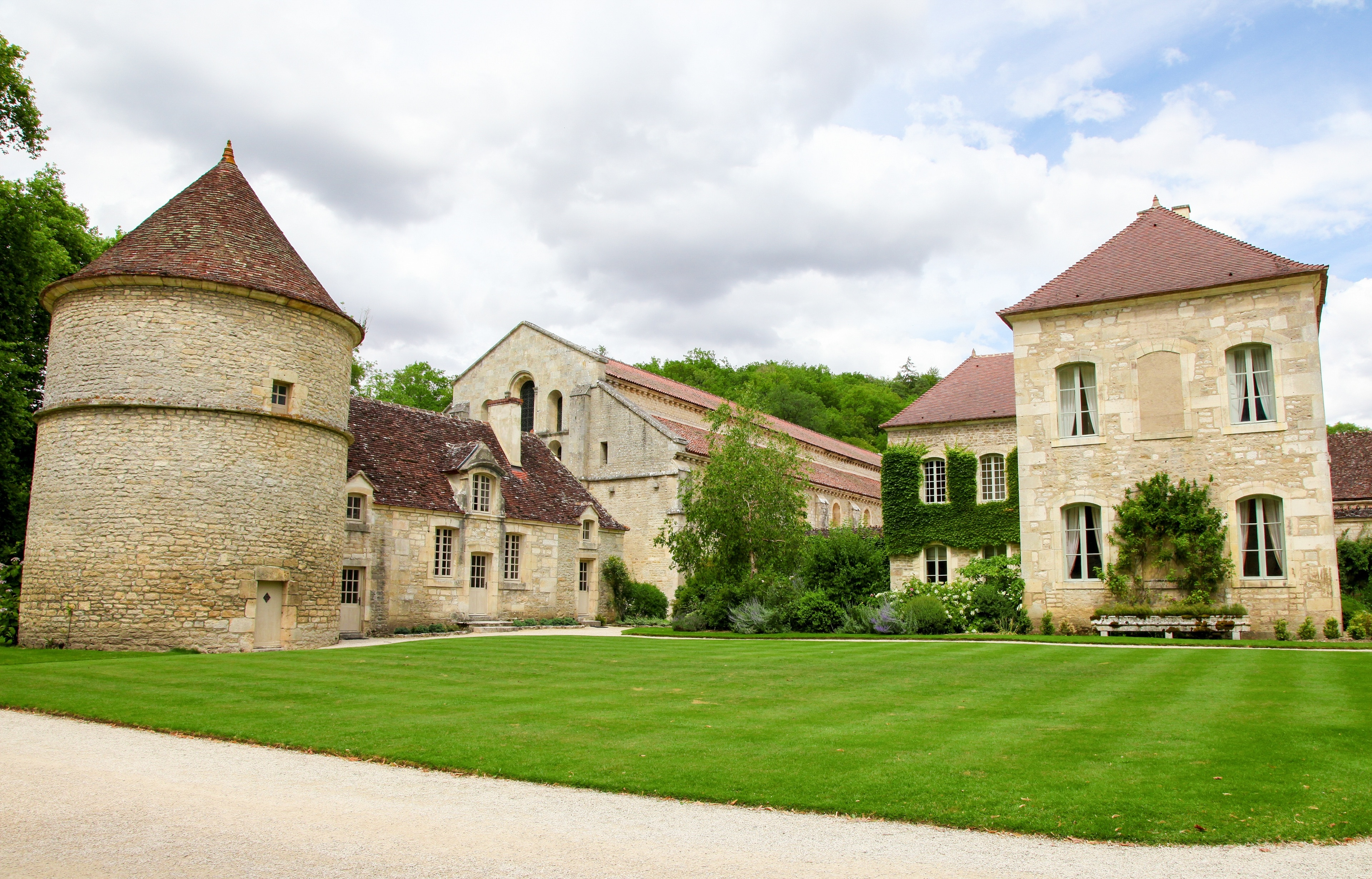 Abbey of Fontenay, Marmagne, Cote d'Or, France
