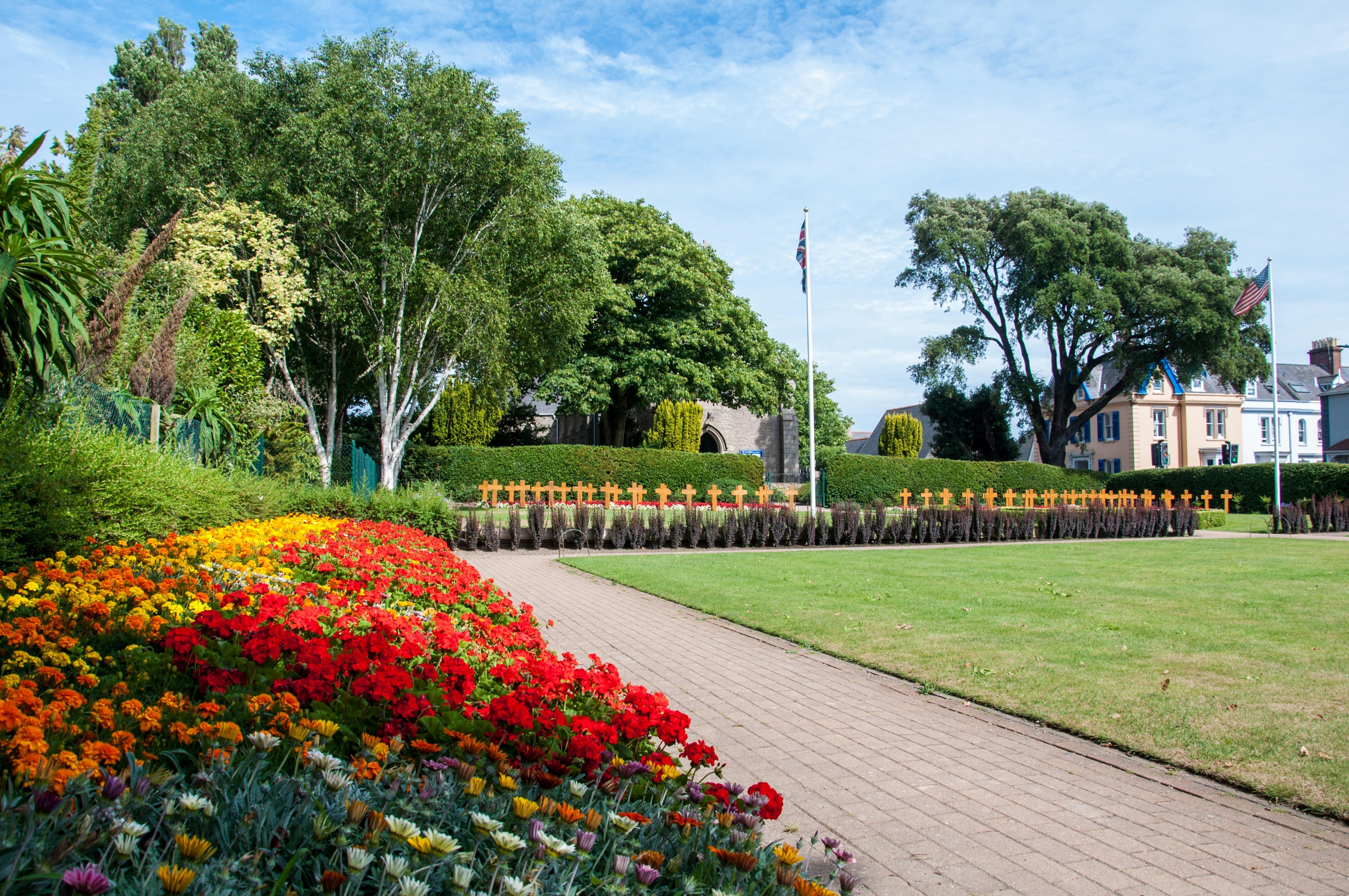 Explore the great outdoors at Howard Davis Park, a lovely green space in St. Helier. Amble around this relaxing area's beautiful beaches and enjoy its top-notch restaurants.