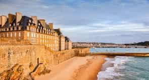 Plaża w Saint-Malo