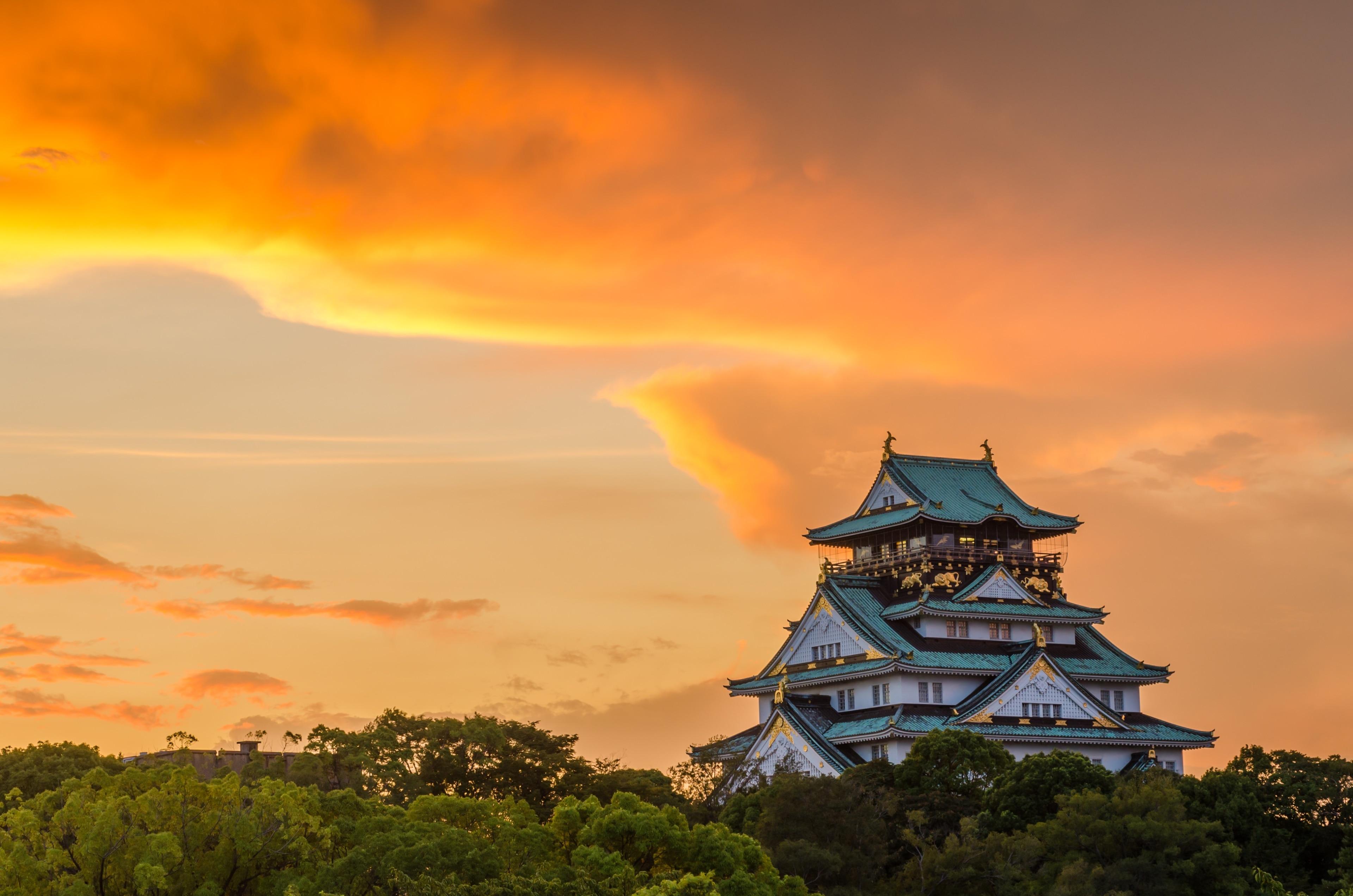 Osaka Castle Park, Osaka, Osaka Prefecture, Japan