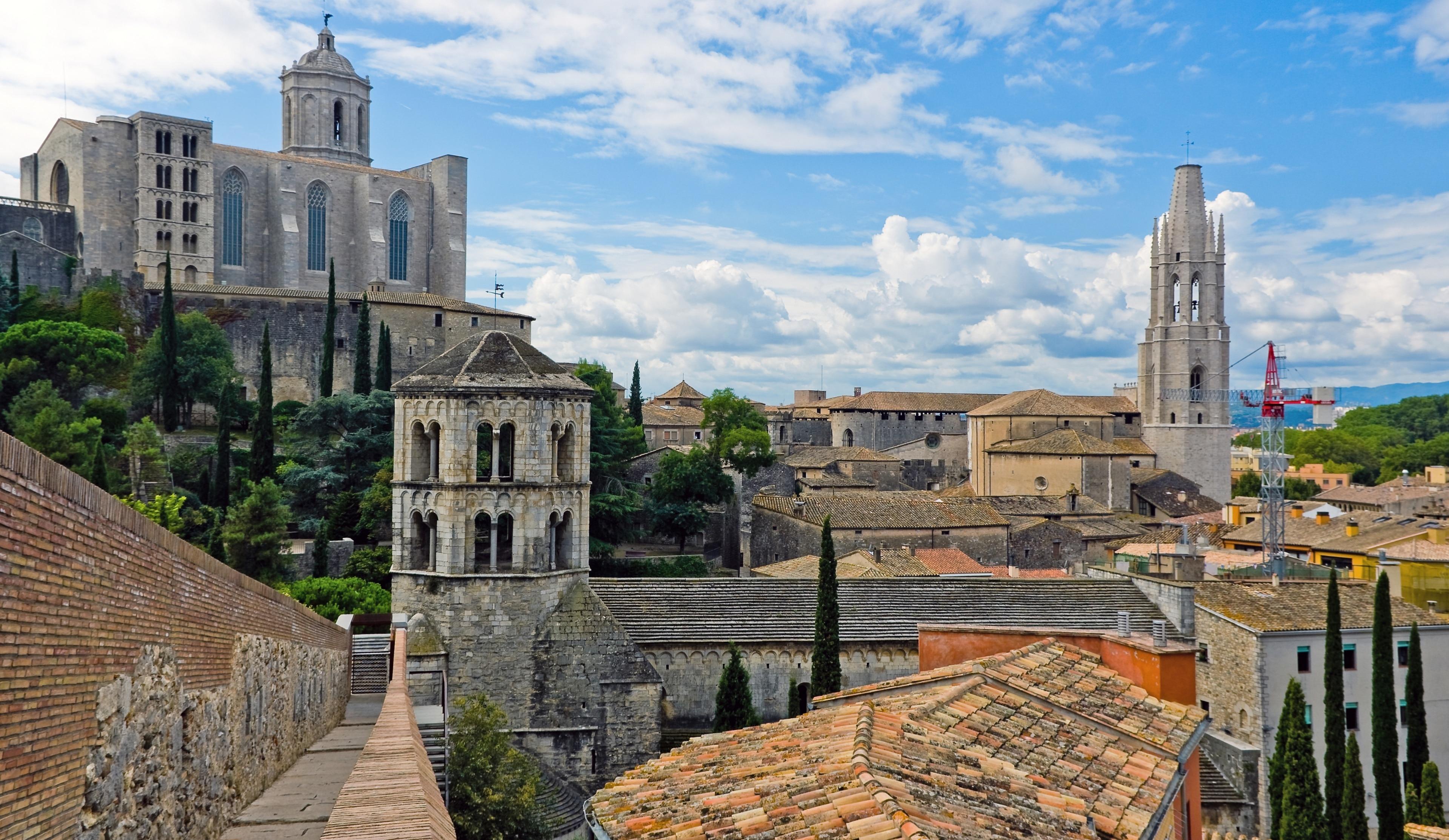 Old Town Girona, Girona, Catalonia, Spain
