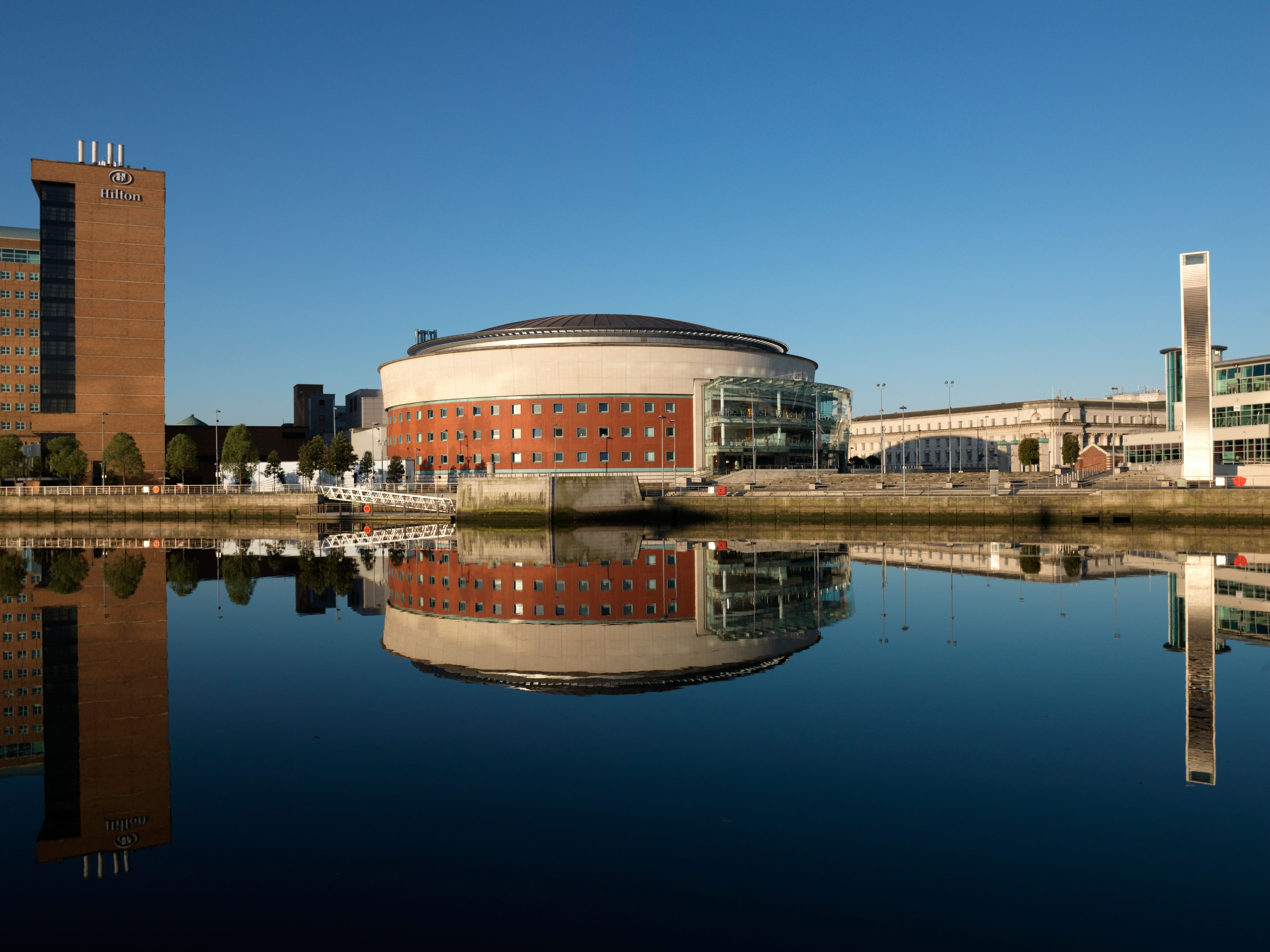 Sitting on the banks of the Lagan River in Belfast, the Waterfront Hall is a landmark of the city and ranks as one of the world's leading conference venues, hosting a huge array of events from concerts and shows to exhibitions and competitions.