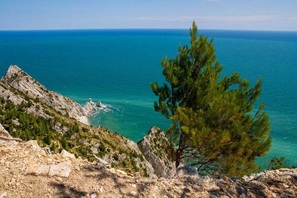 Spiaggia delle Due Sorelle, Sirolo, Marche, Italien