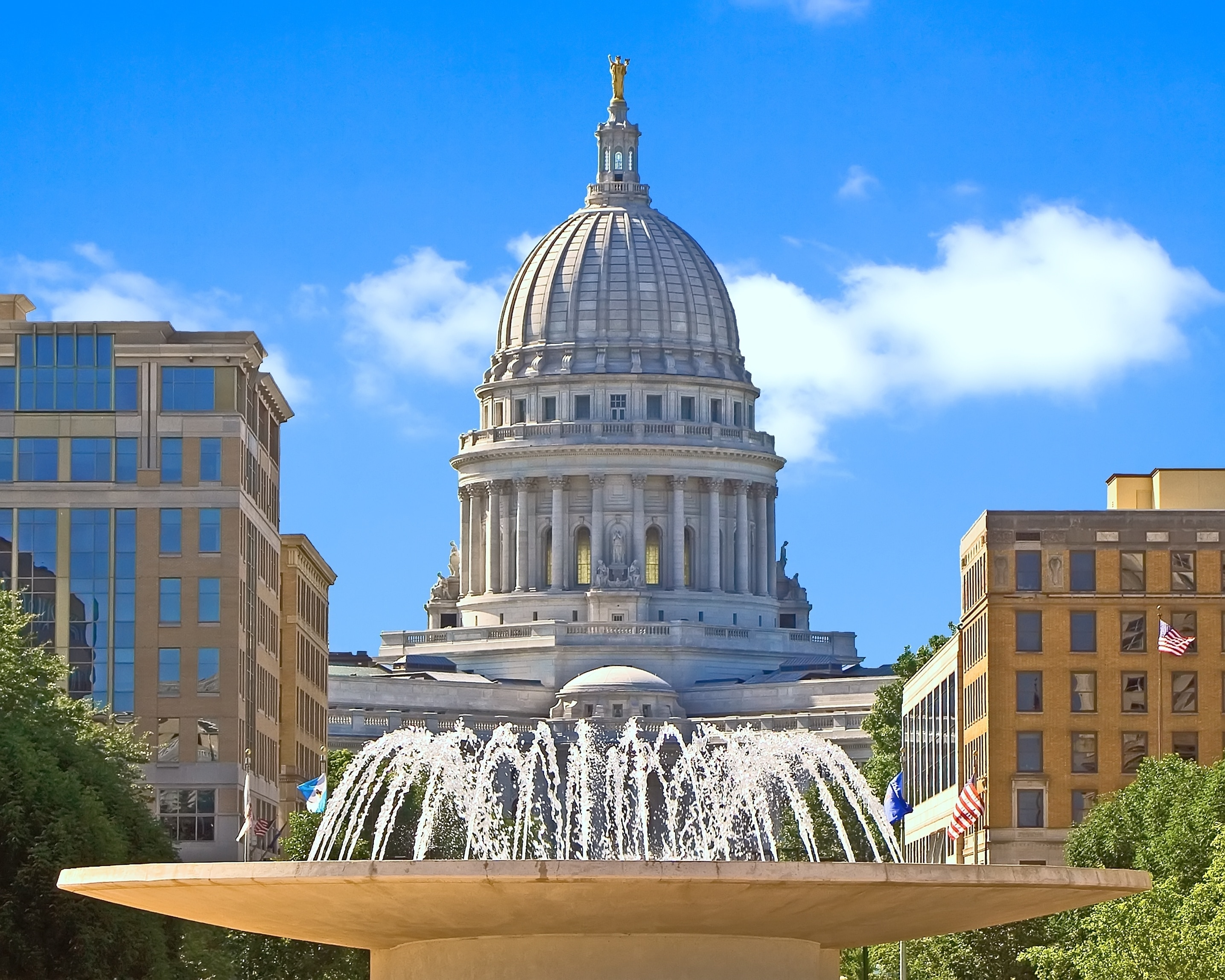 Capitol Square, Madison, Wisconsin, Verenigde Staten