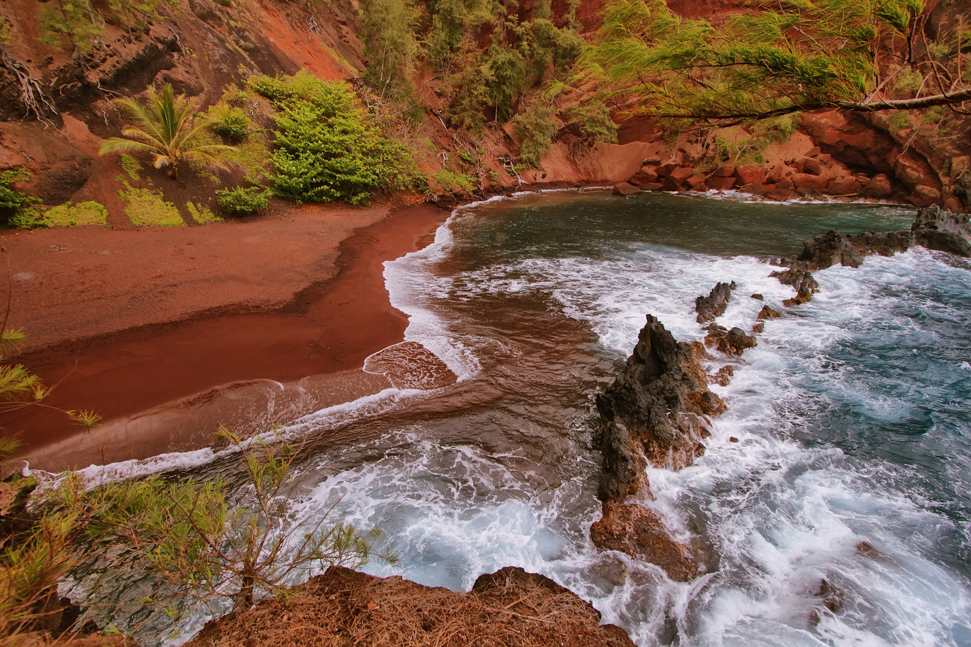 Red Sand Beach, Hana, Hawaii, United States of America