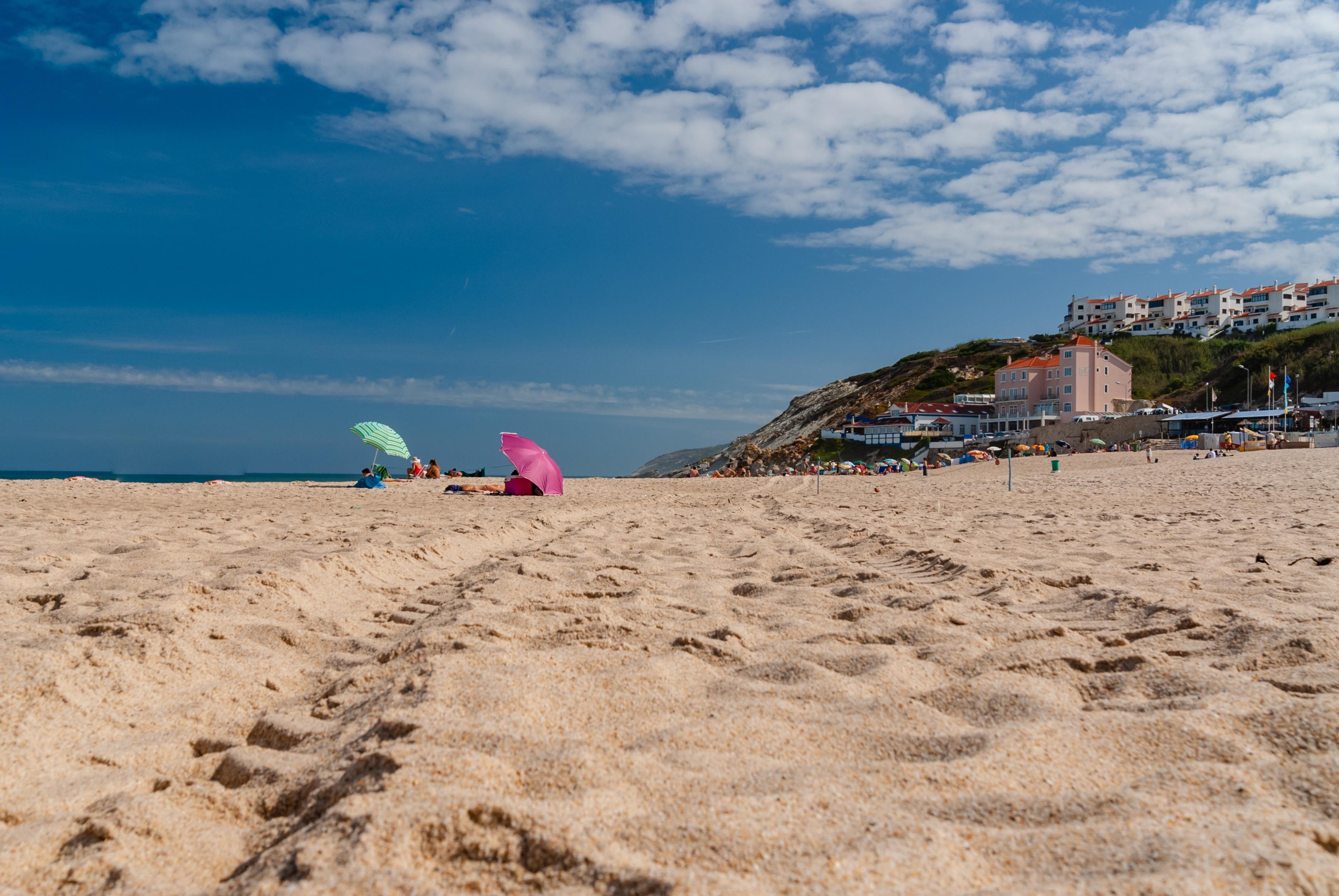 Foz do Arelho Beach, Caldas da Rainha, Leiria District, Portugal
