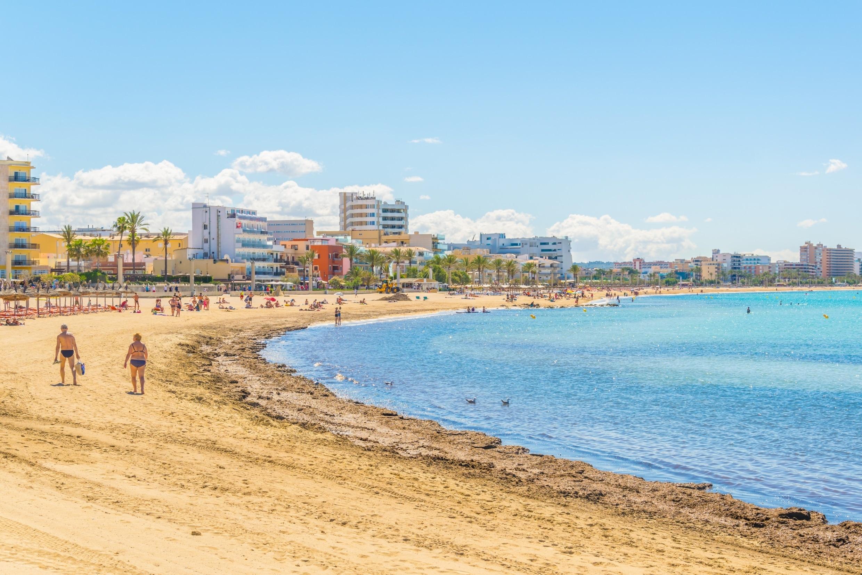 Playa de Palma, Palma de Mallorca, Balearen, Spanje