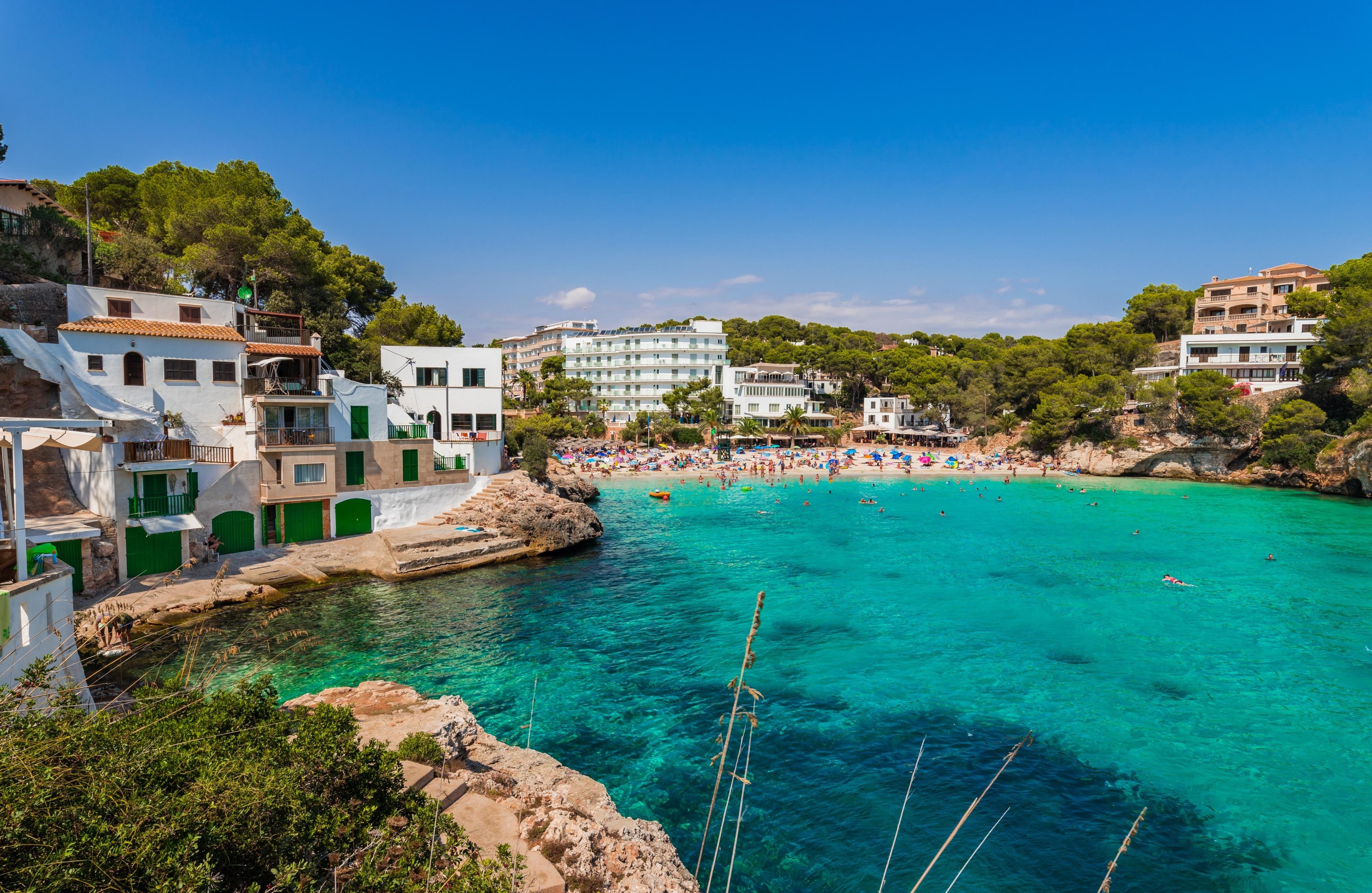 Cala Santany Beach, Santanyi, Balearic Islands, Spain
