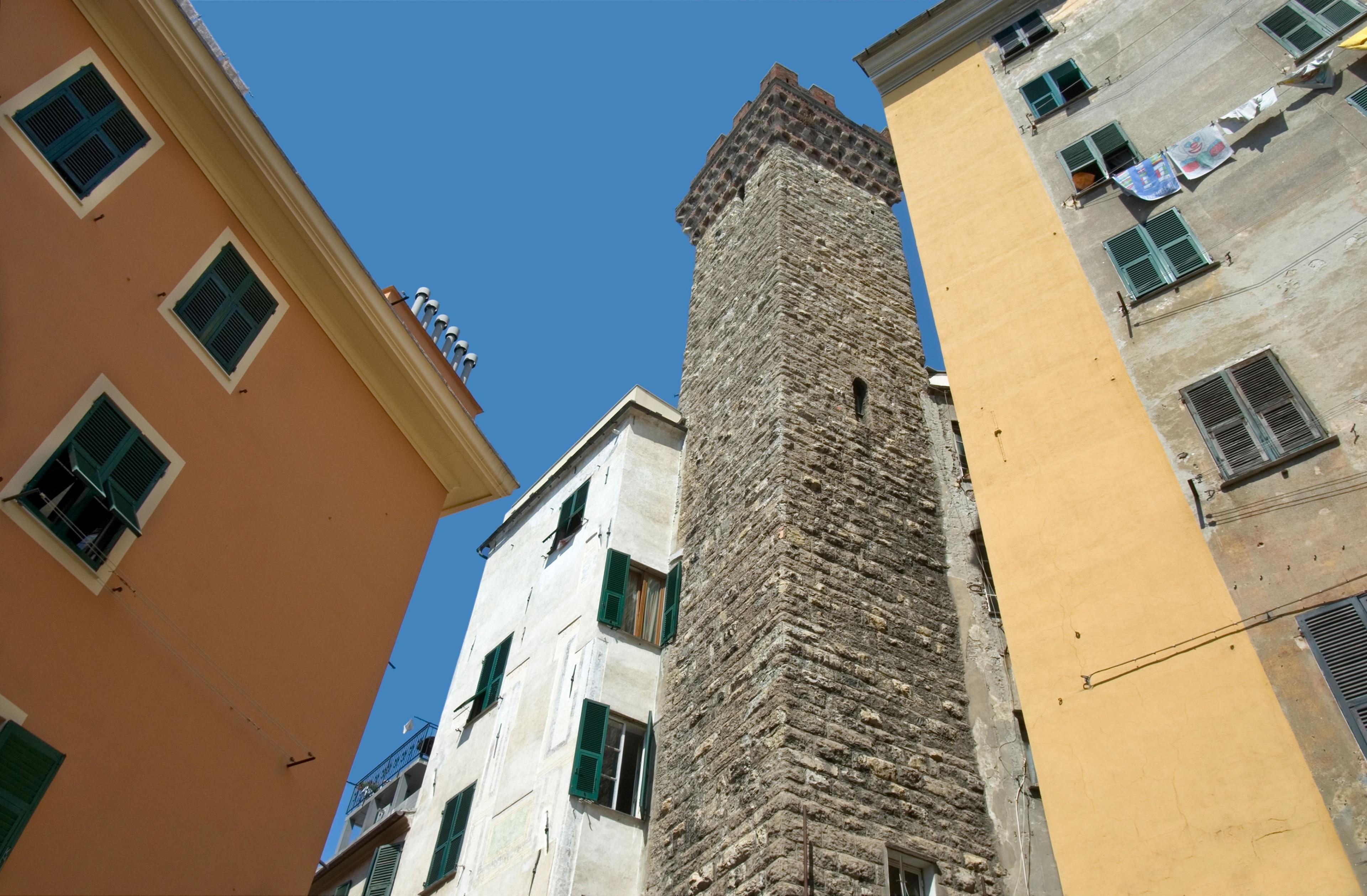 Torre degli Embriaci, Genova, Ligurië, Italië