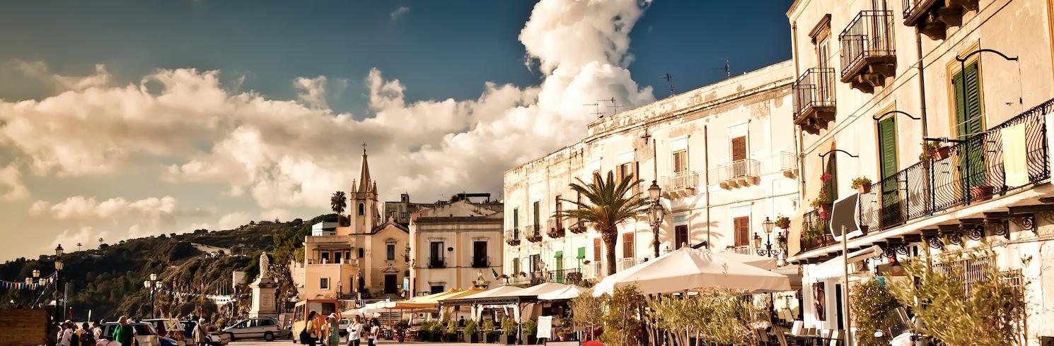 Historisches Zentrum von Lipari, Italien