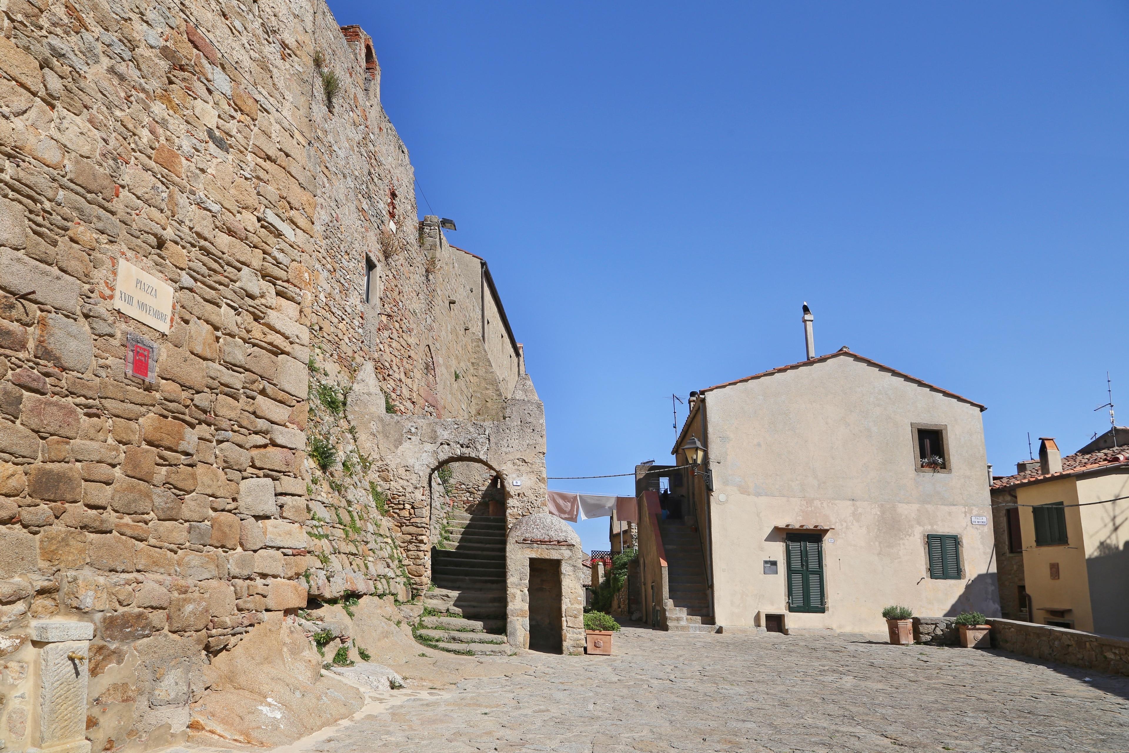 Giglio Castello, Isola del Giglio, Toskana, Italien