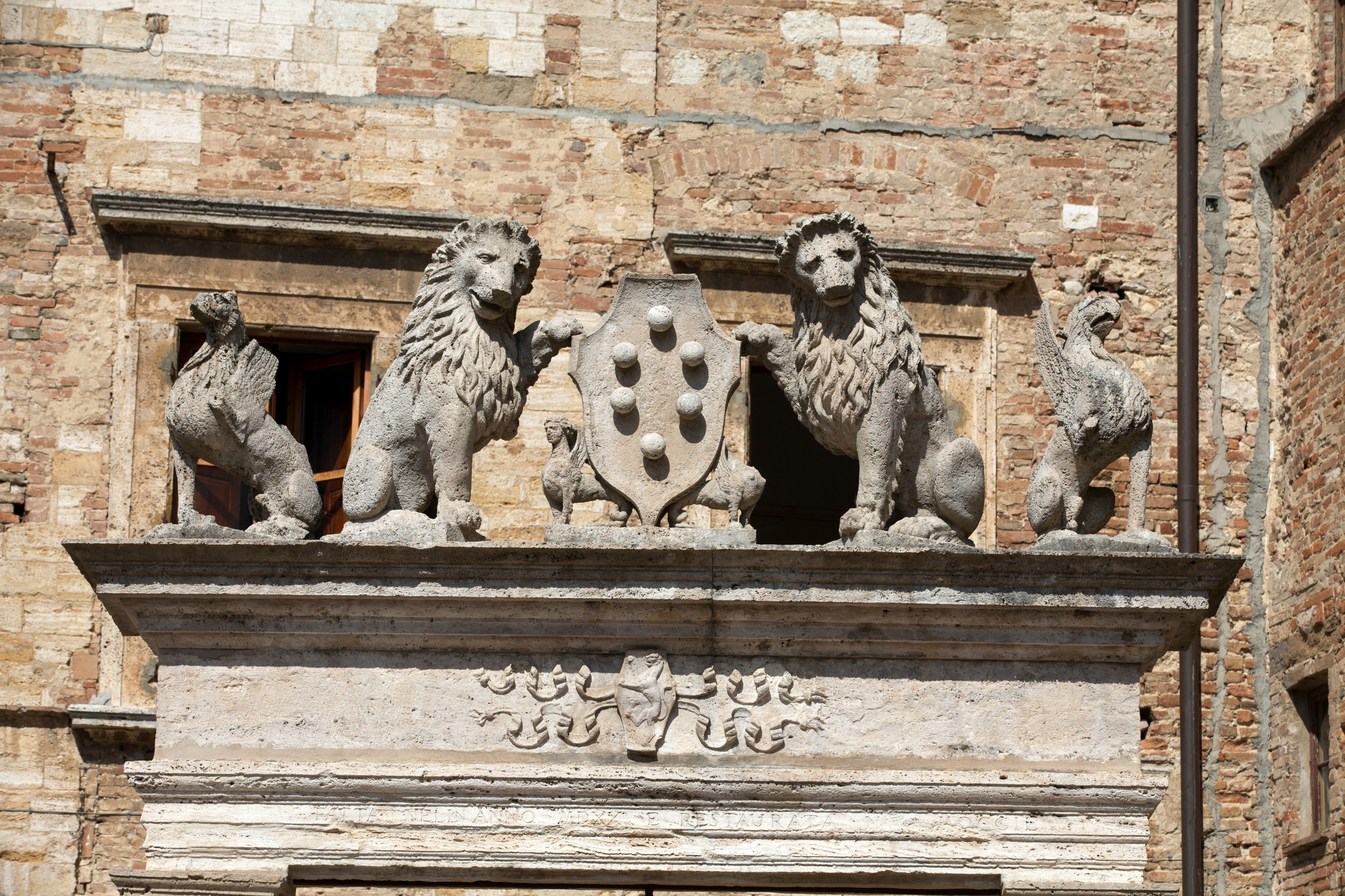 Piazza Grande, Montepulciano, Tuscany, Italy