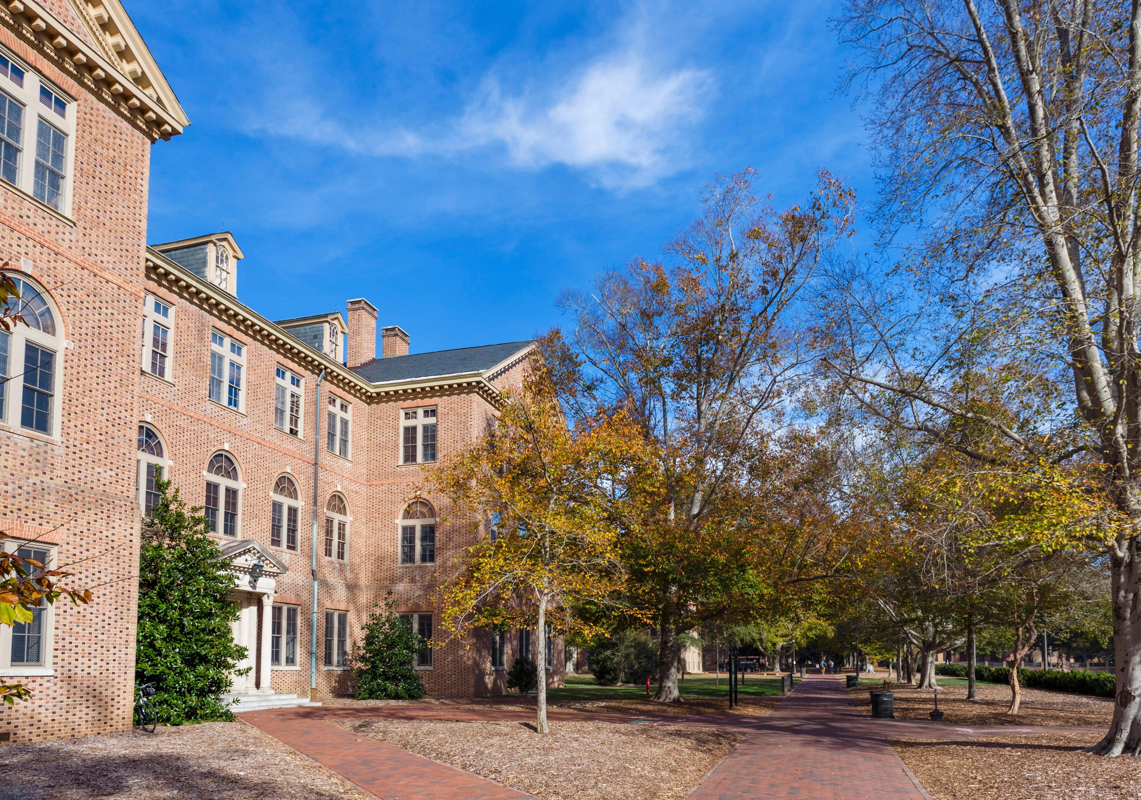 Explore the campus of College of William and Mary, during your trip to Williamsburg. Amble around the area's picturesque gardens or attend a sporting event.