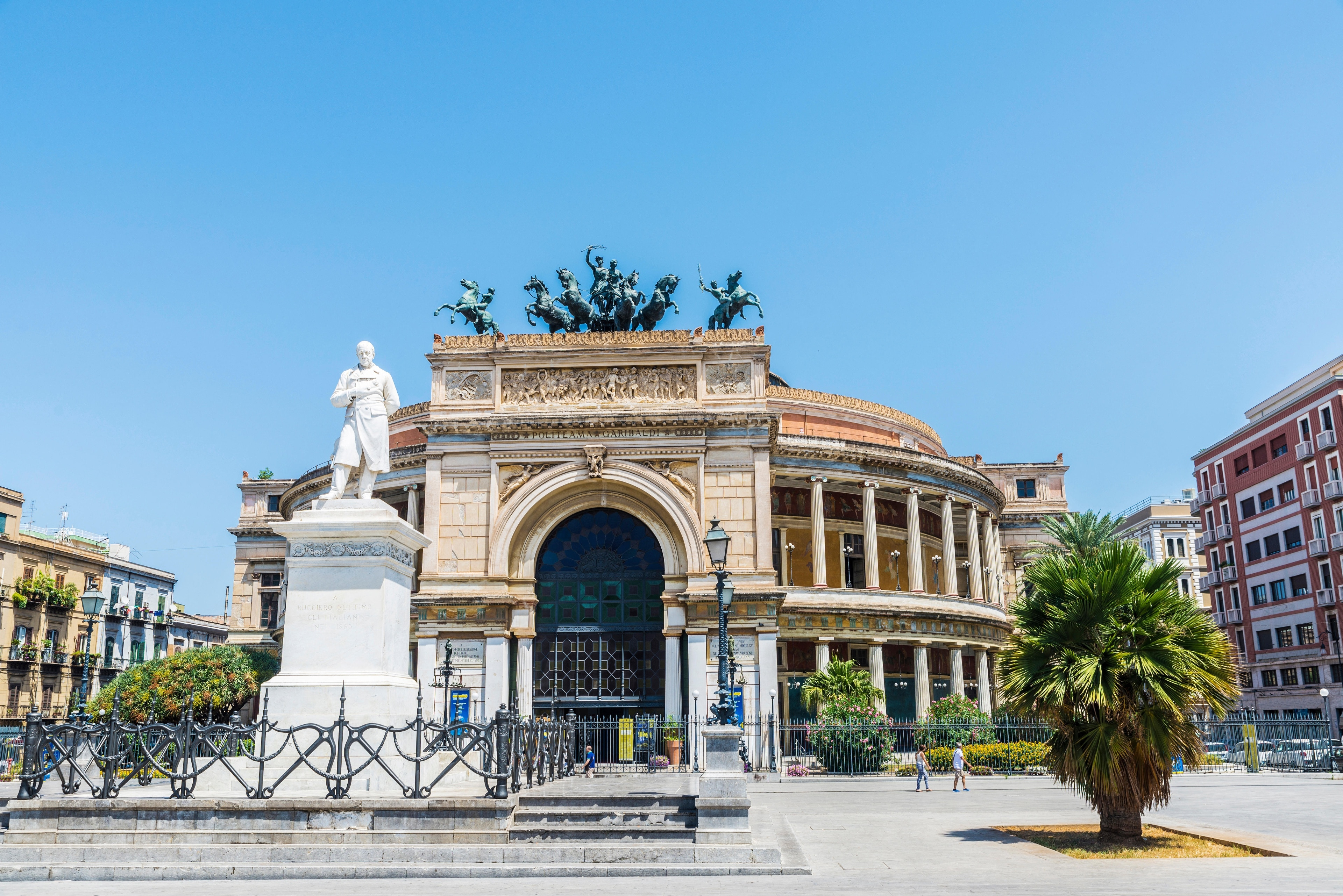 Enjoy a performance at Politeama Garibaldi Theater, a theater with a story to tell in Palermo. While in this culturally rich area, find time to visit its shops.