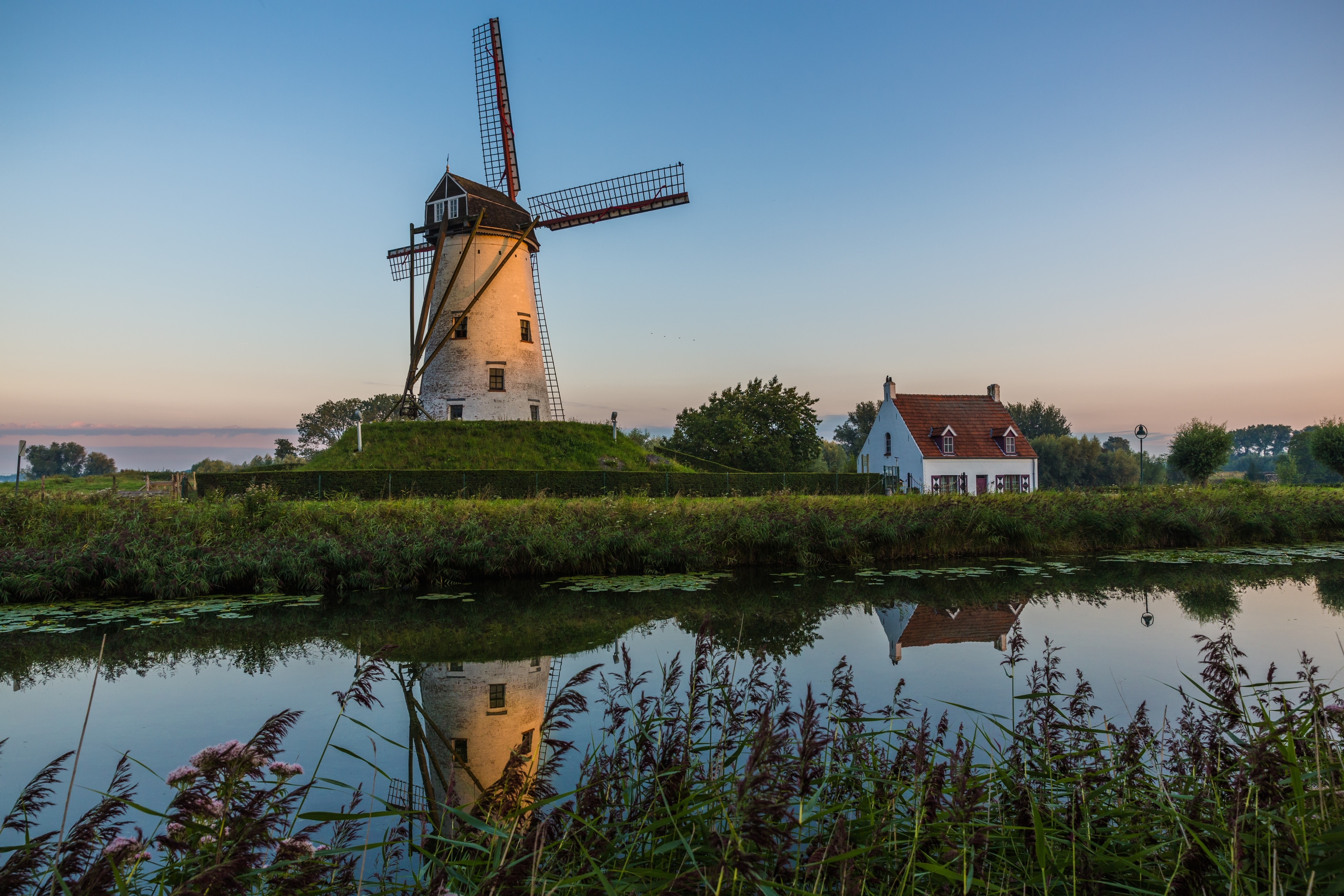 Hoeke Windmill, Damme, Flemish Region, Belgium