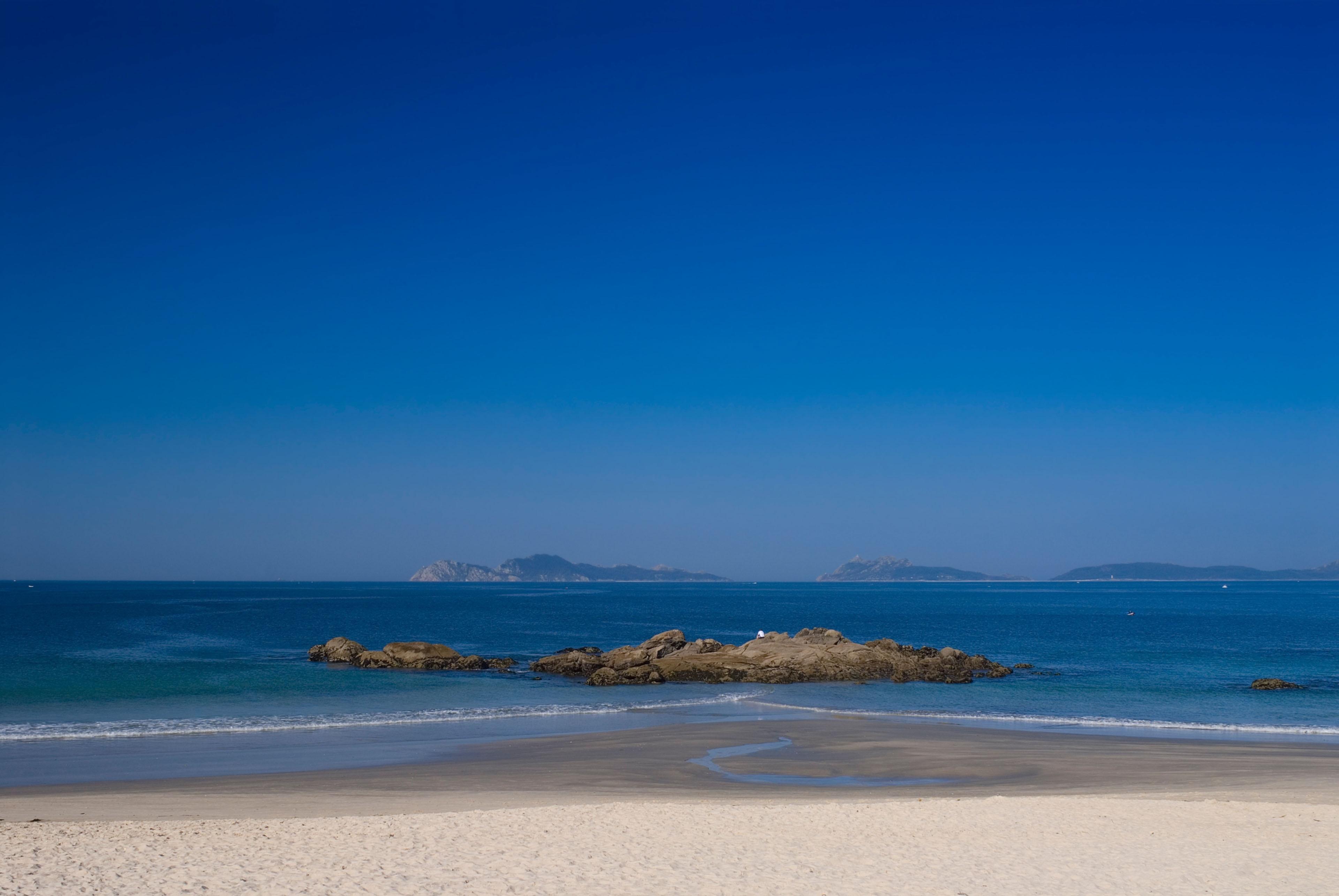 Strand von Samil, Vigo, Galizien, Spanien