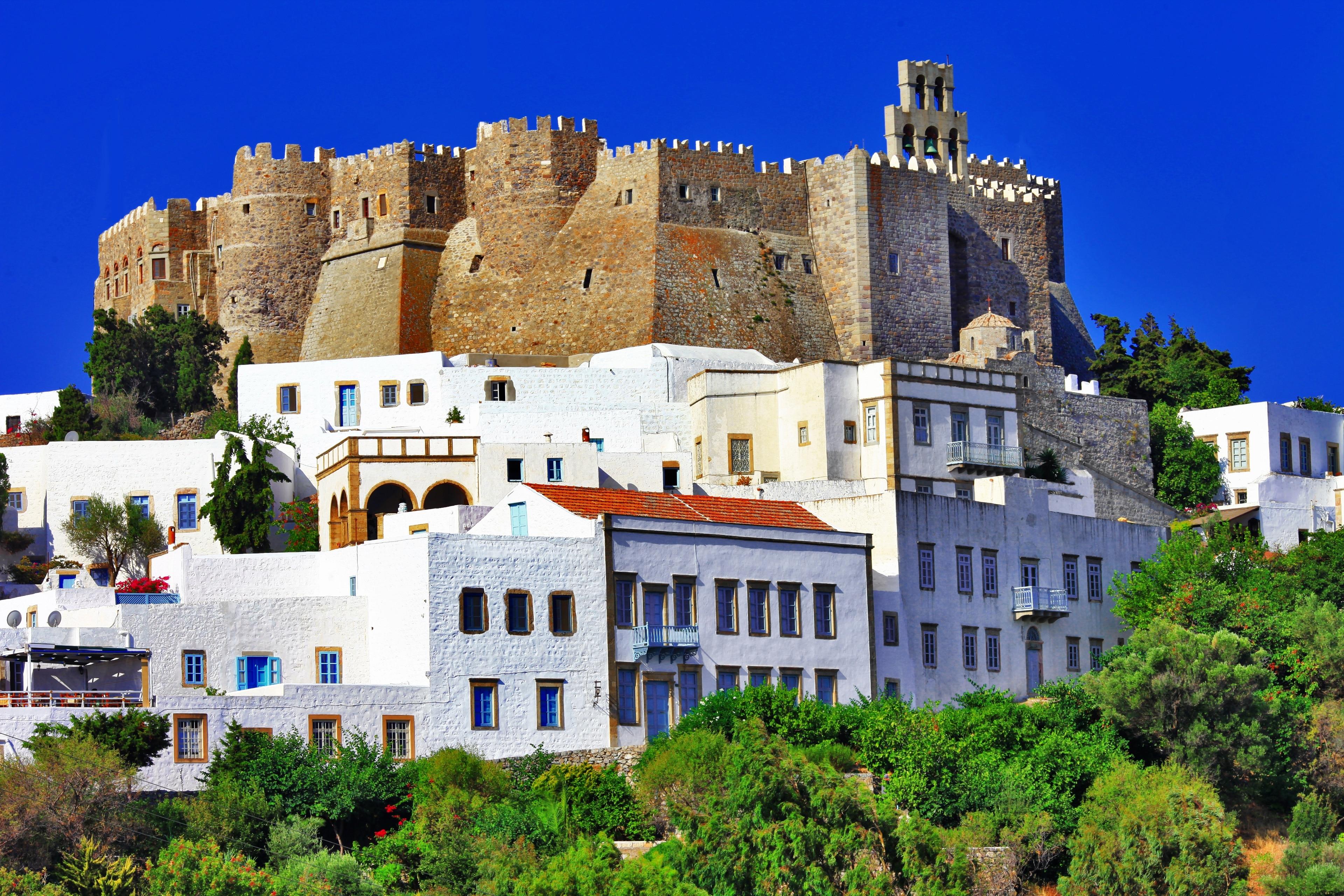 Klooster van Sint Jan de Theoloog, Patmos, Zuid-Egeïsche Eilanden, Griekenland