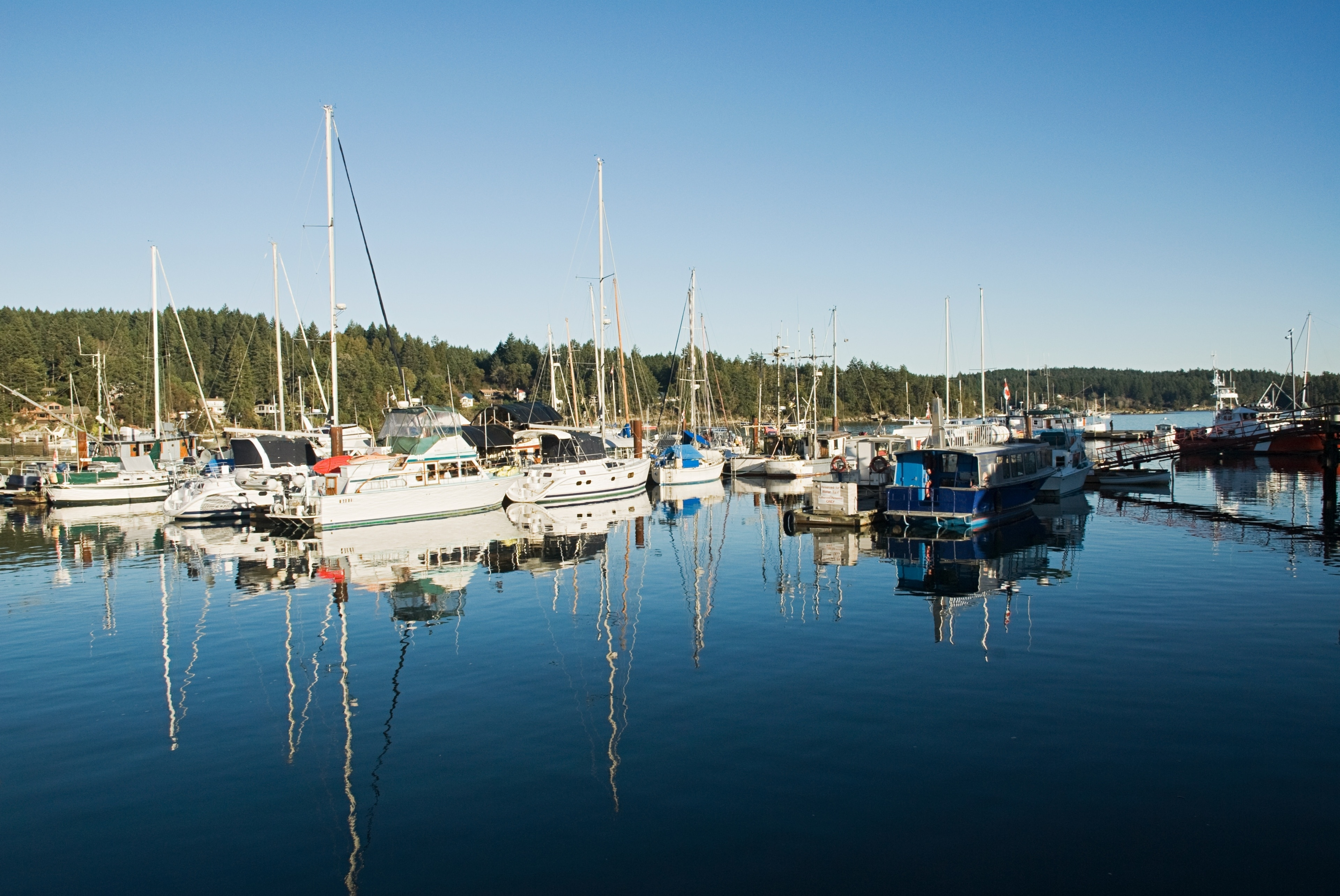 Saltspring Marina, Salt Spring Island, British Columbia, Kanada