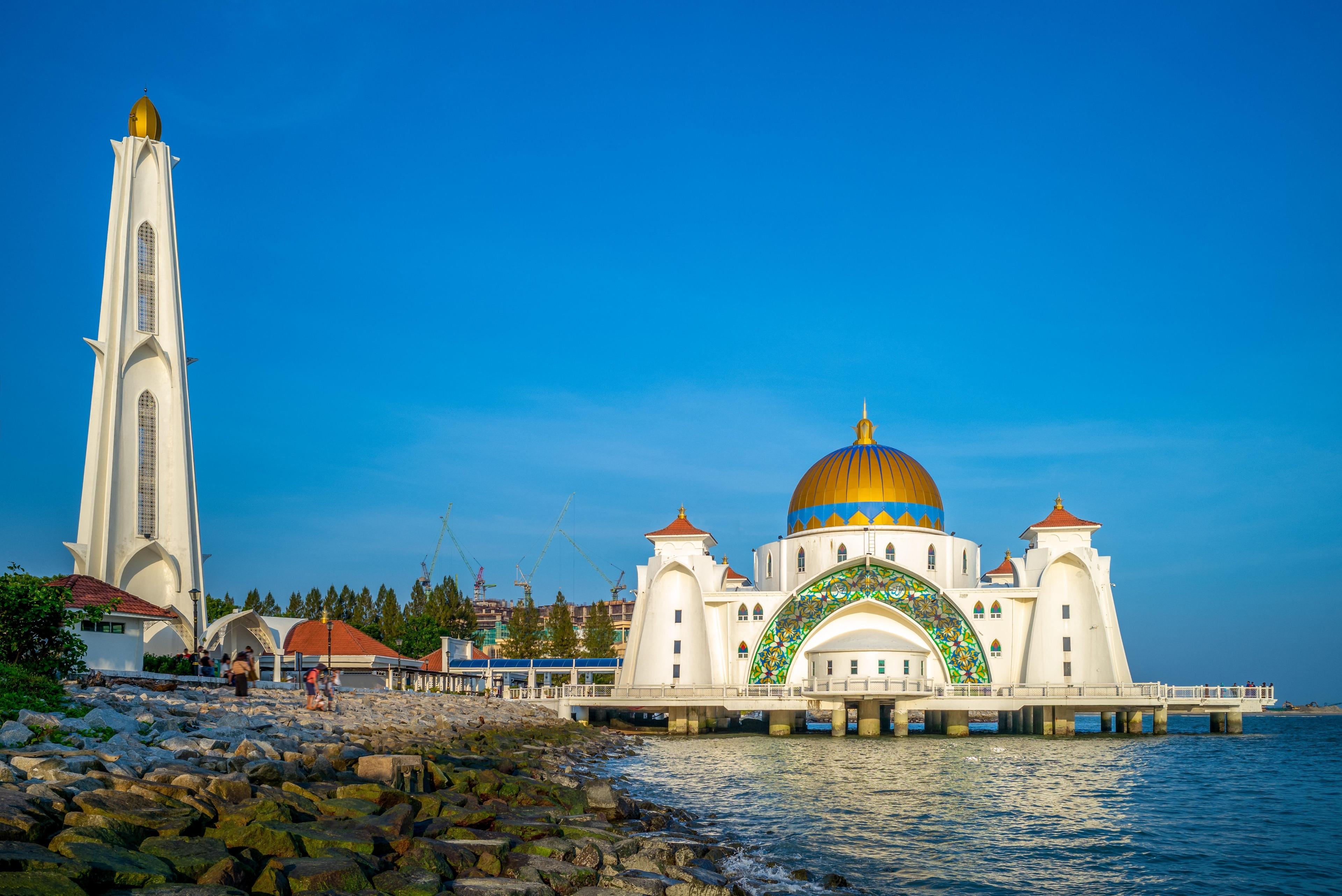 Melaka Straits-moskee, Malakka-stad, Malakka, Maleisië