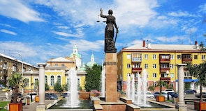 Stadscentrum van Krasnojarsk