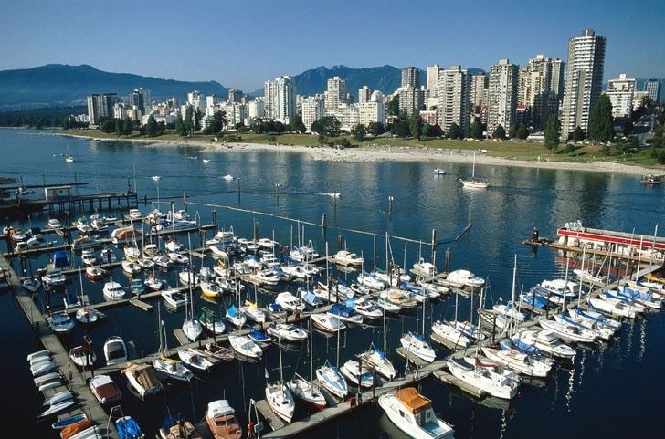 English Bay Beach, Vancouver, British Columbia, Kanada