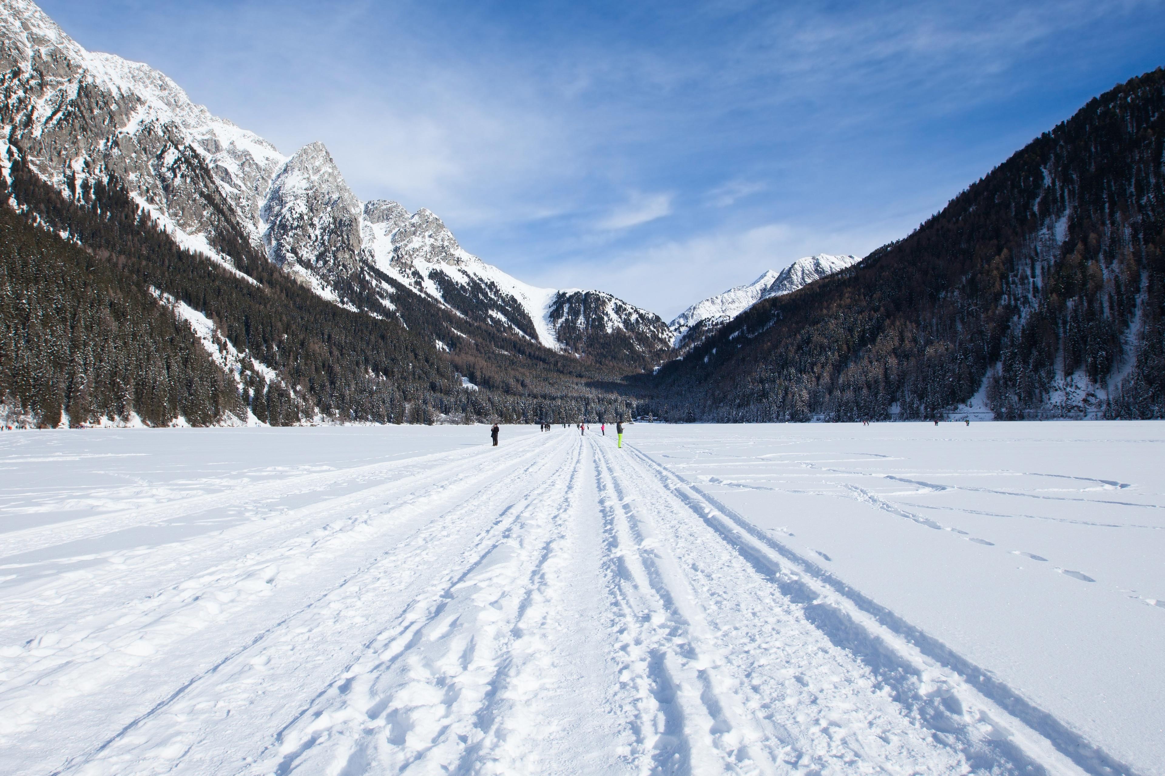 Antholzer See, Rasen-Antholz, Trentino-Südtirol, Italien