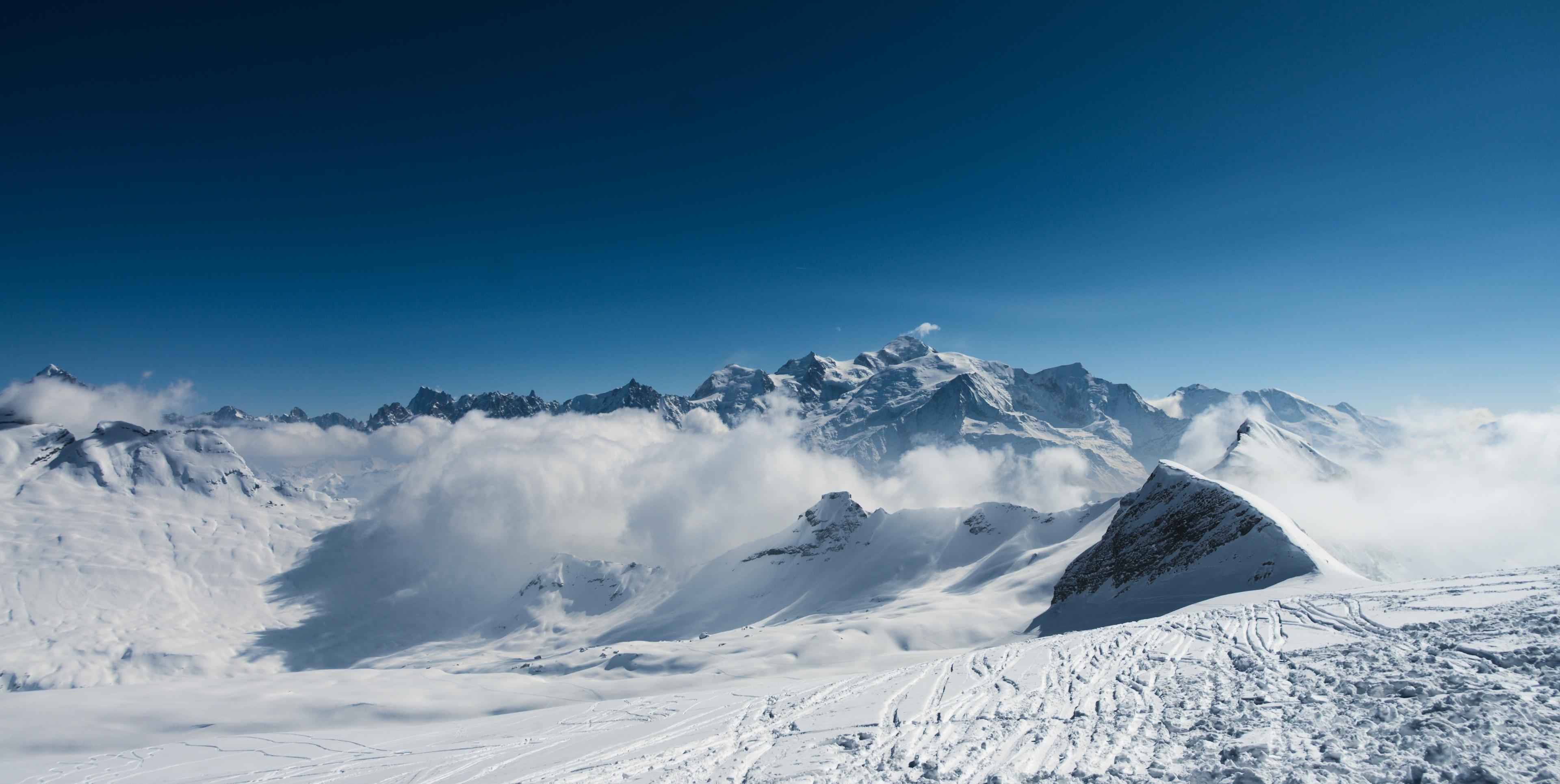 Skigebiet Flaine, Arâches-la-Frasse, Haute-Savoie (Département), Frankreich