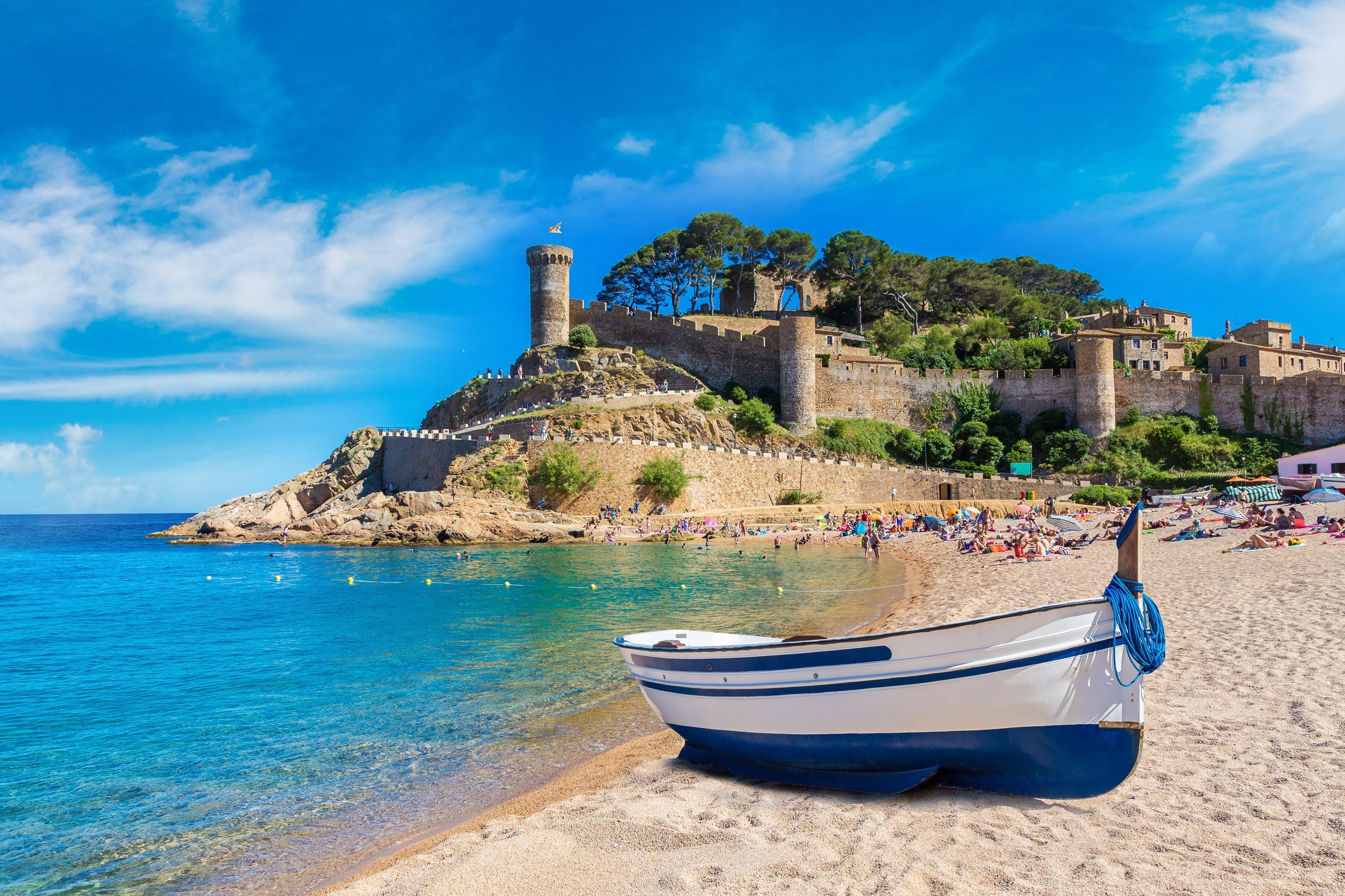 Strand von Tossa de Mar, Tossa de Mar, Katalonien, Spanien