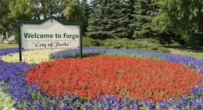 Stadtzentrum von Fargo, ND