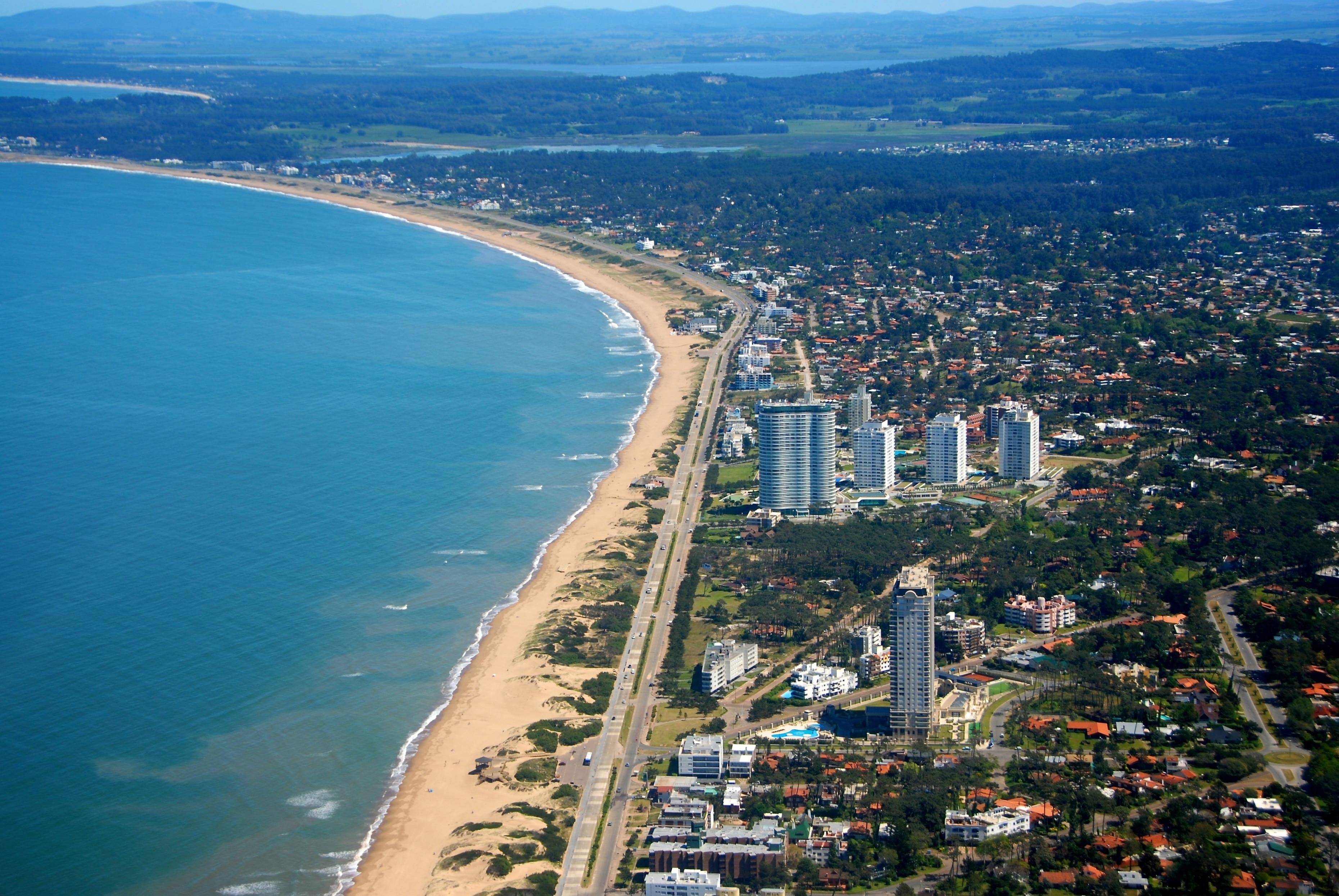 Strand von Mansa, Punta del Este, Maldonado, Uruguay