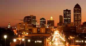 Centrum města Des Moines