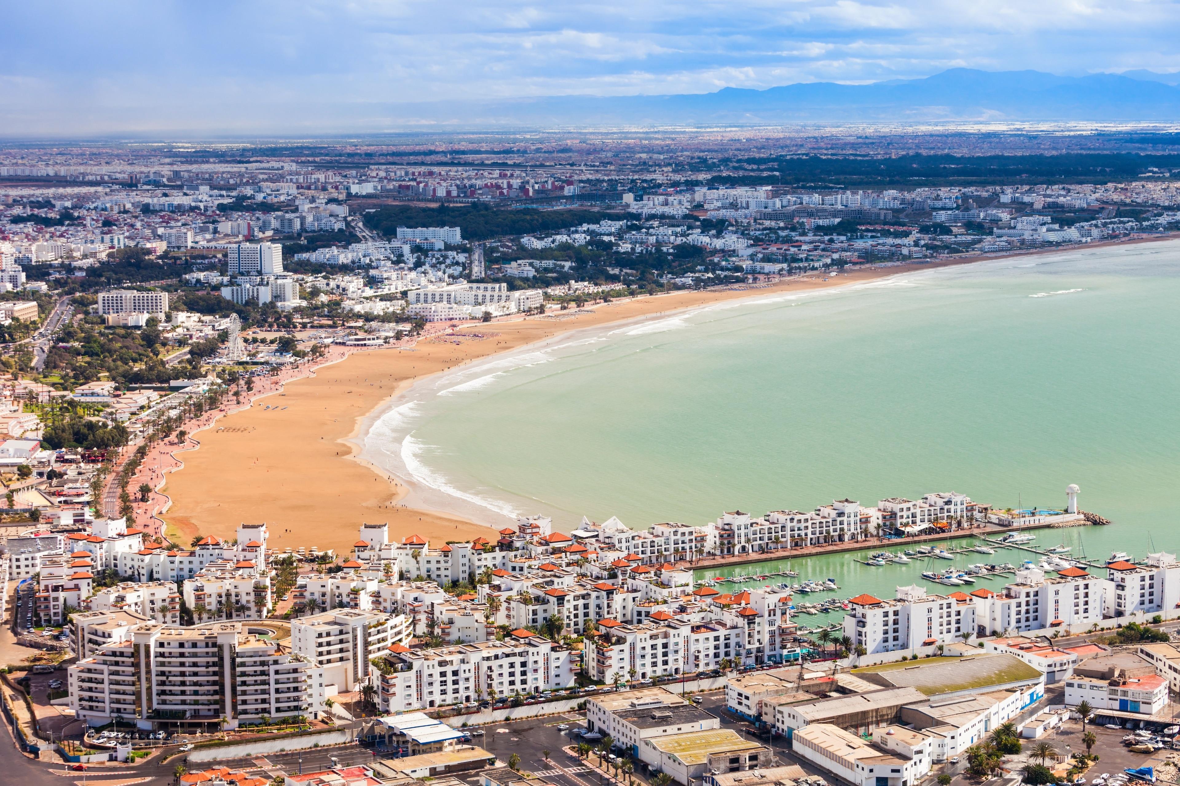 Strand von Agadir, Agadir, Souss-Massa, Marokko