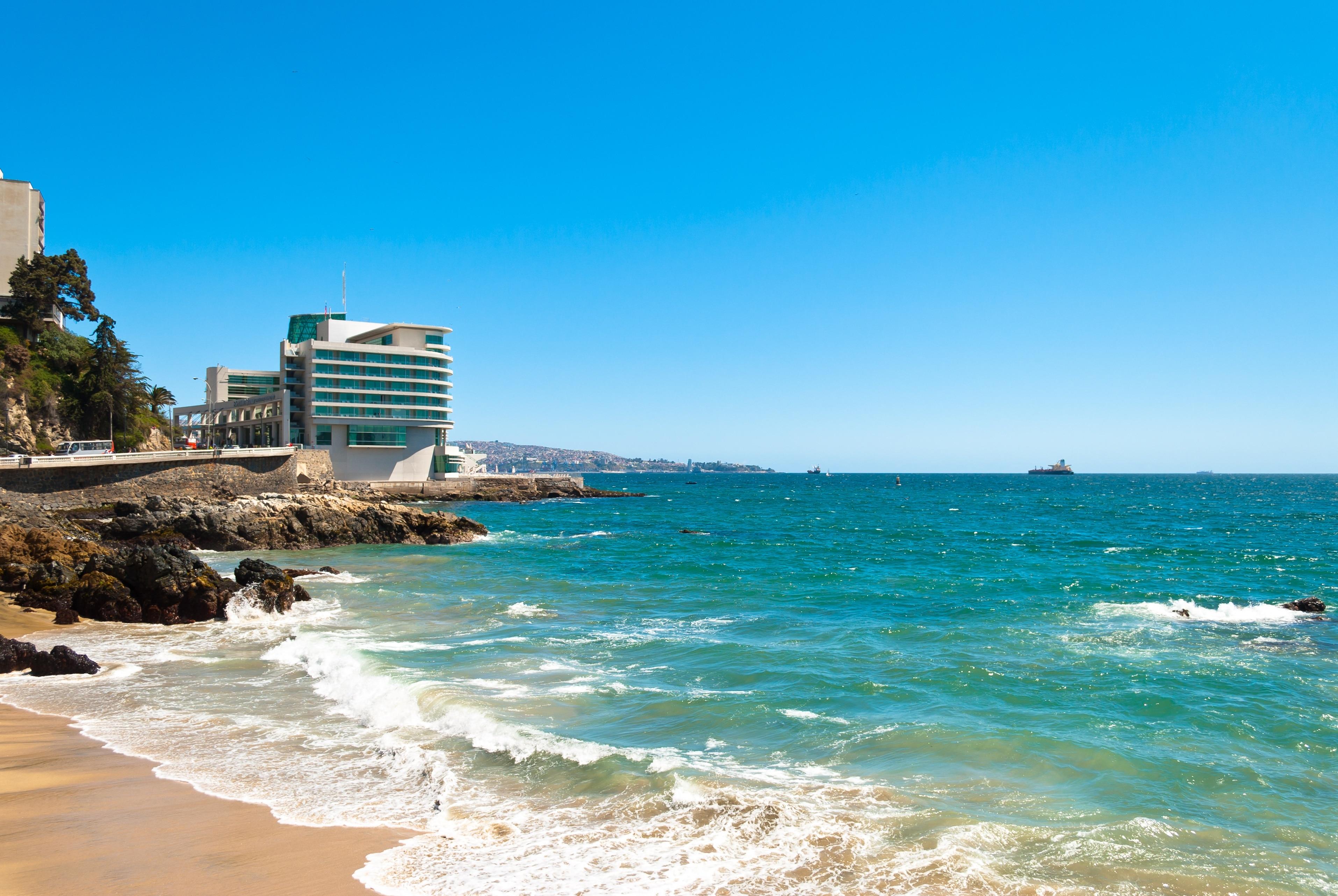 Caleta Abarca Beach, Vina del Mar, Valparaíso, Chile